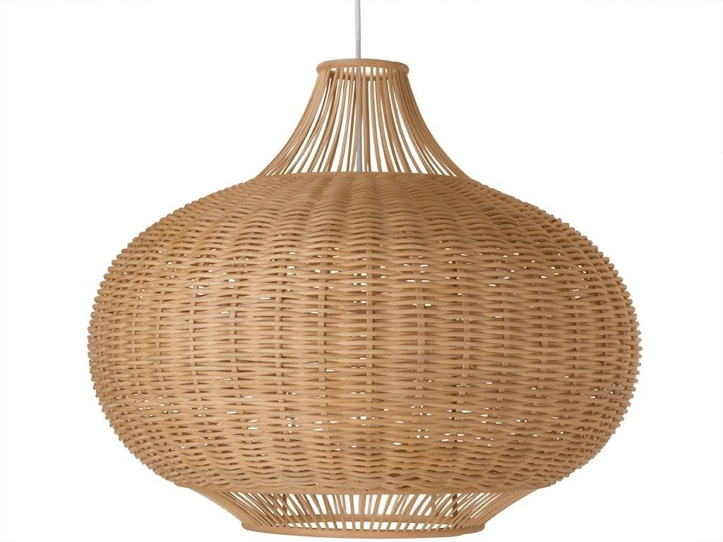 Kouboo 1-Light Wicker Pendant Lamp & Reviews | Wayfair pertaining to Macrame Pendant Lights (Image 4 of 15)