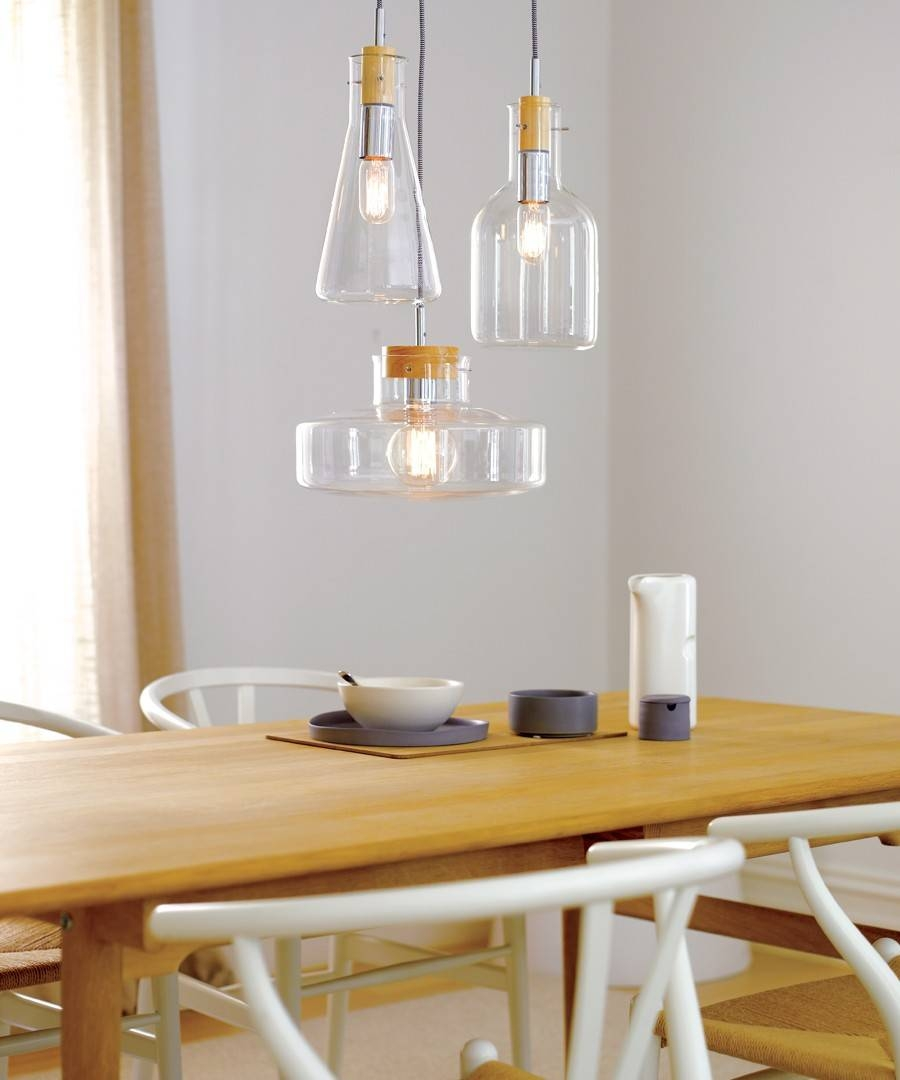 Lab 1 Light Pendant With 160Mm Bottle Beaker Shaped Glass Shade for Beacon Pendant Lights (Image 12 of 15)
