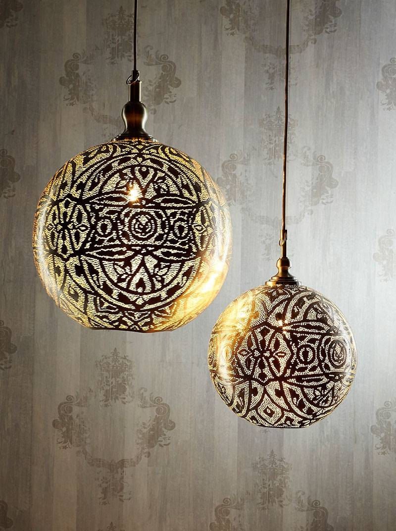 Lamp: Moroccan Pendant Light | Farmhouse Kitchen Lighting Fixtures with World Globe Pendant Lights (Image 10 of 15)
