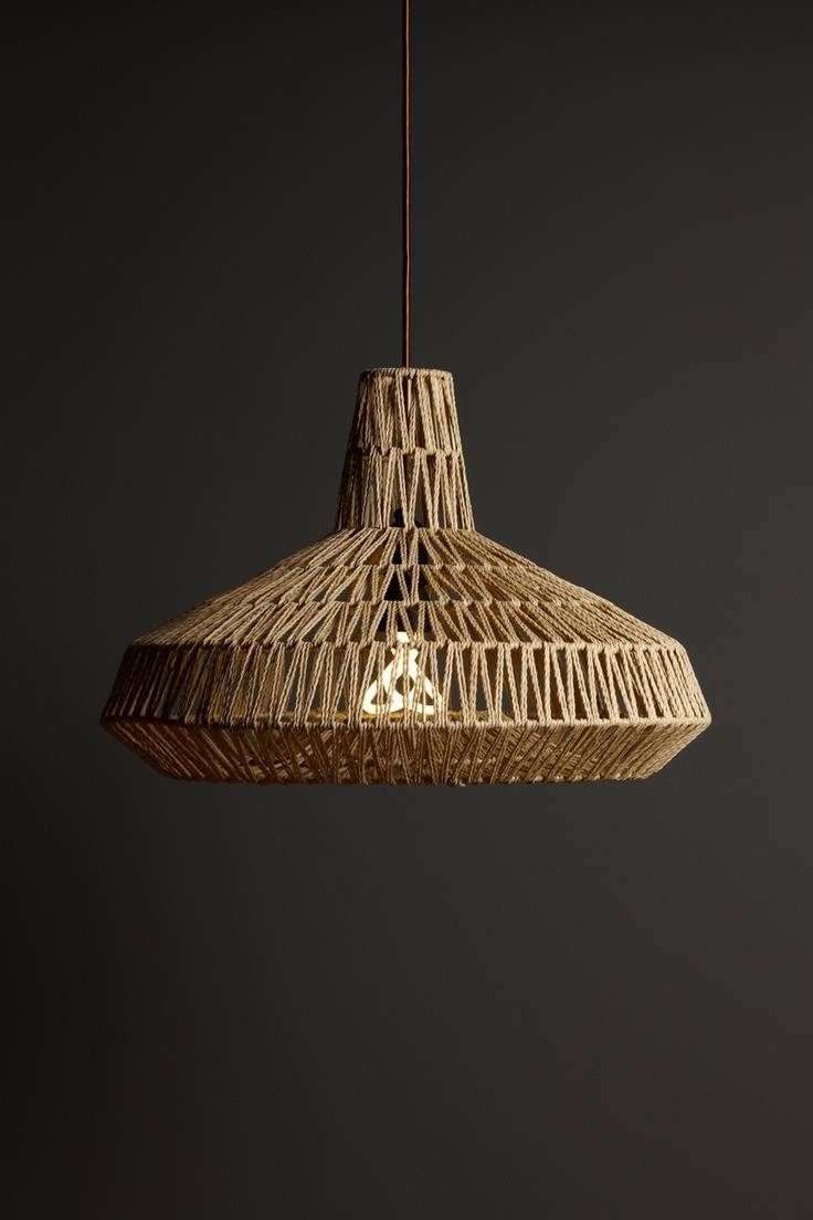 Lamp: Rattan Seagrass Lamp Shade For Chic Pendant Lamp Decoration pertaining to Rattan Pendant Lighting (Image 10 of 15)