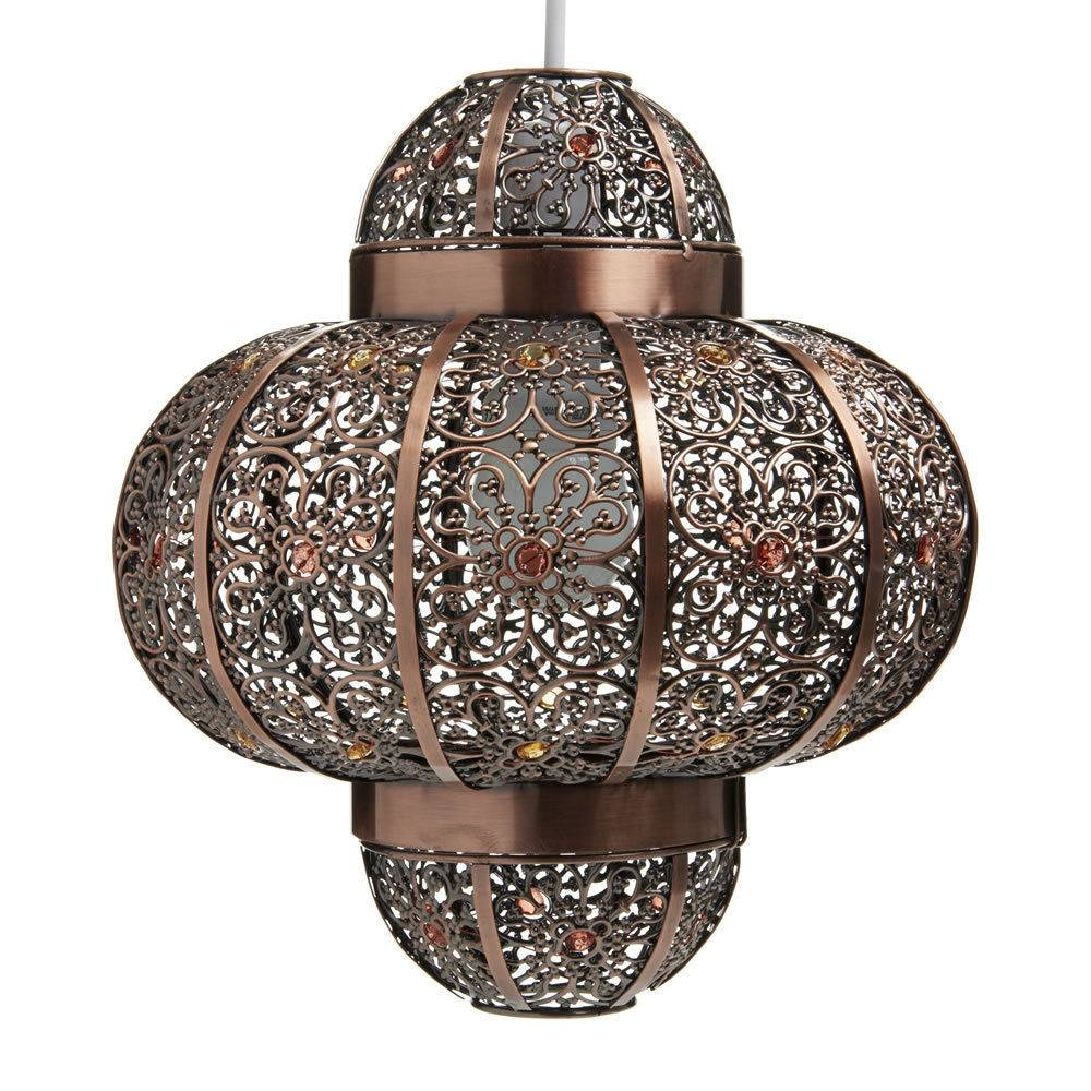 Lamp Shades Design : Moroccan Lamp Shades Style Pendant Chandelier with Moroccan Style Lights Shades (Image 7 of 15)