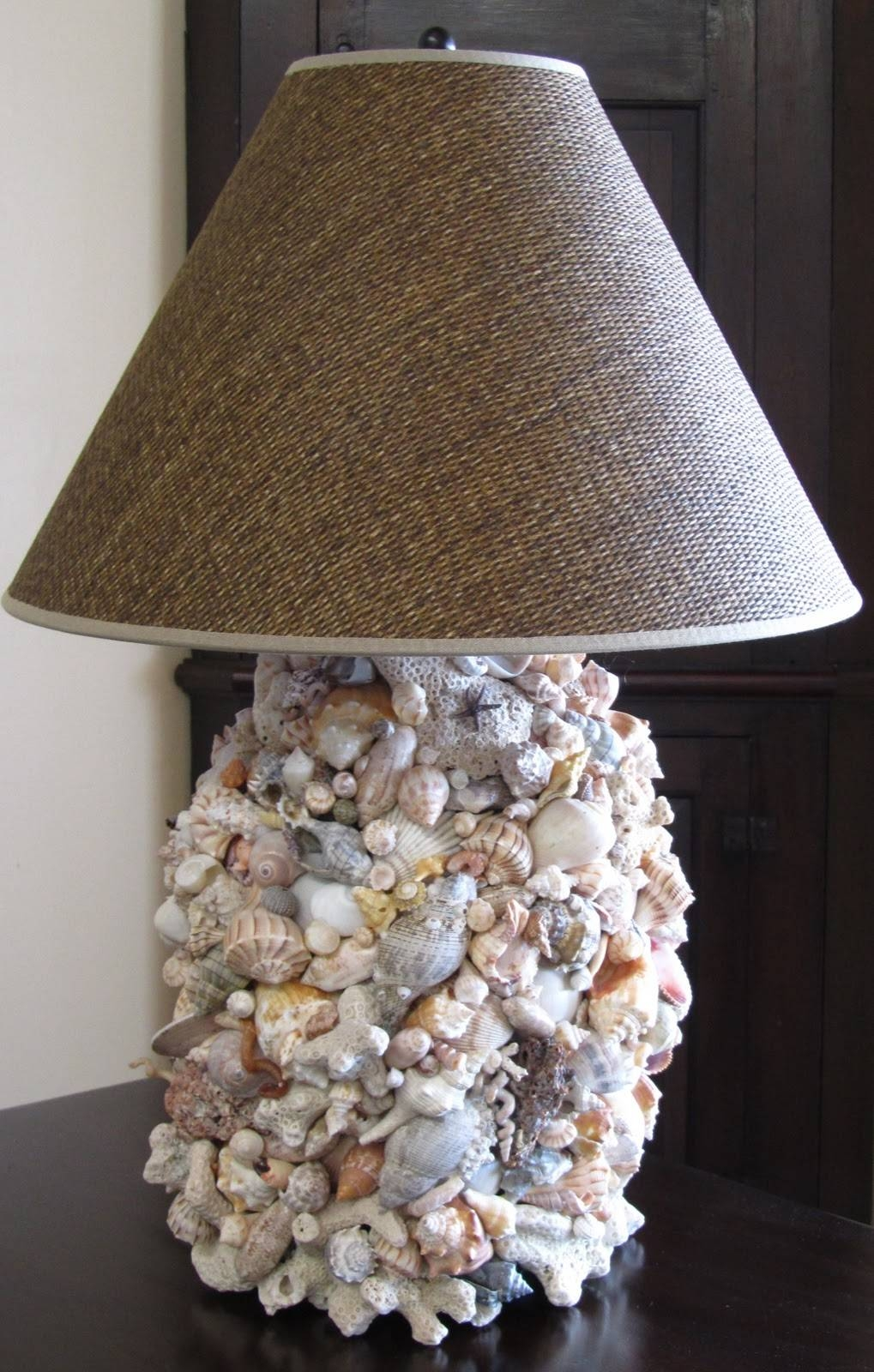 Lamp Shades: Most Creative Shell Lamp Shade Design Ideas Gallery regarding Shell Lights Shades (Image 8 of 15)