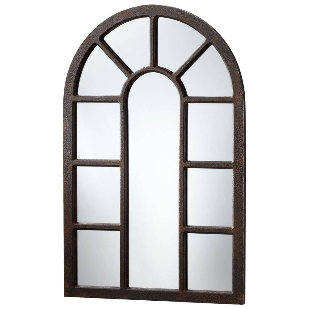"Lancaster Industrial Loft Large 48"" Iron Arched Wall Mirror with regard to Arched Wall Mirrors (Image 6 of 15)"