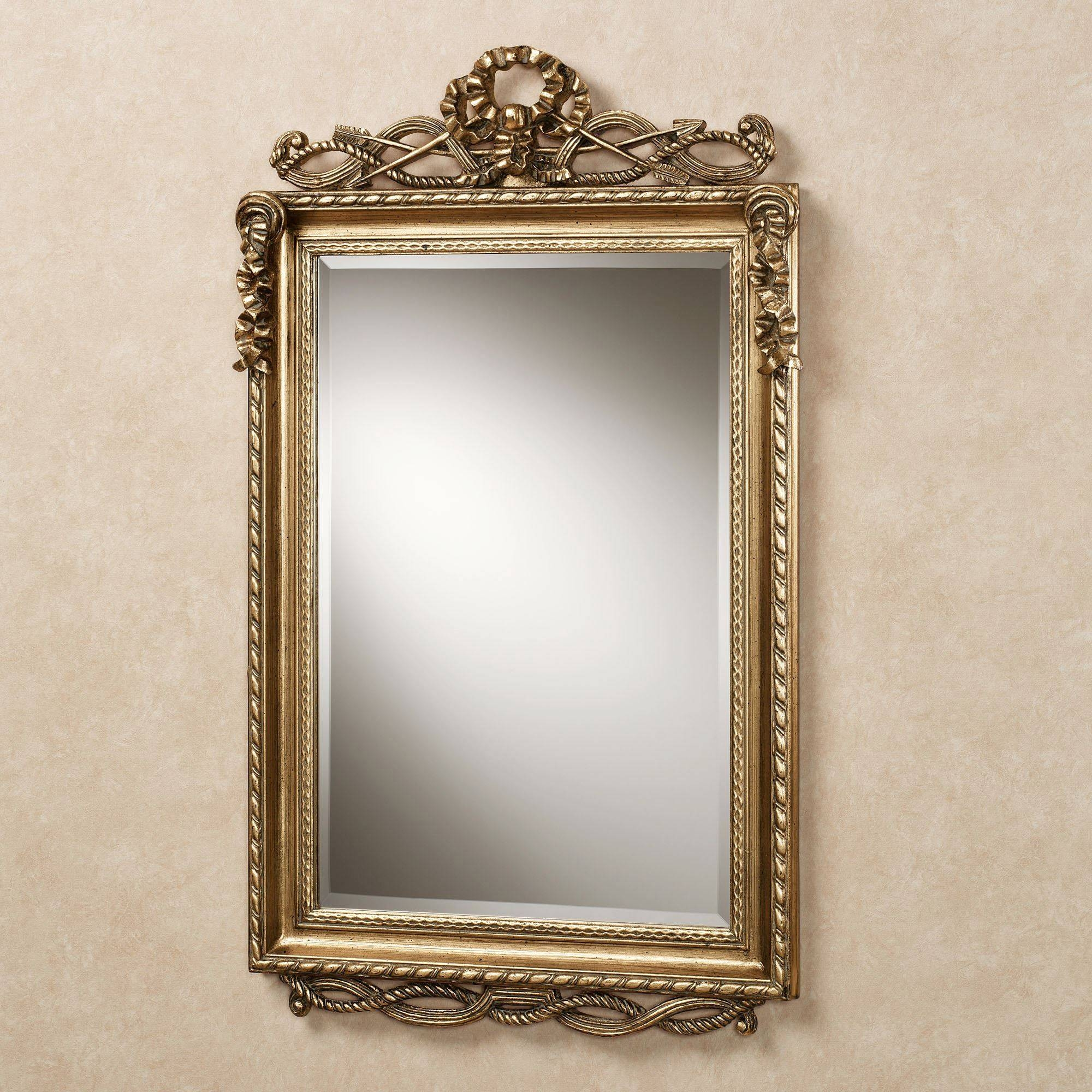 Lancaster Twist Design Rectangular Wall Mirror with regard to Antique Wall Mirrors (Image 11 of 15)