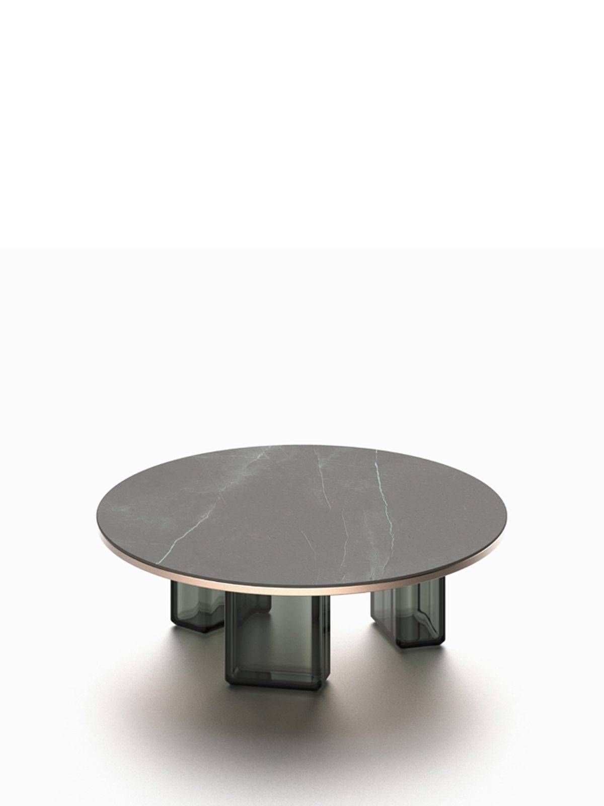 Lands – Stone And Glass Coffee Table – Hand Blown Glass And Solid Regarding Stone And Glass Coffee Tables (View 14 of 15)