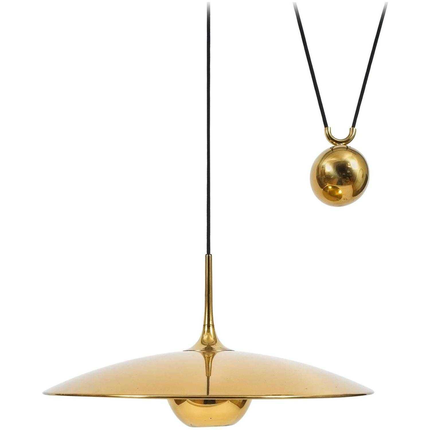 Large Adjustable Polished Brass Counterweight Pendantflorian Regarding Counterweight Pendant Lights (View 13 of 15)