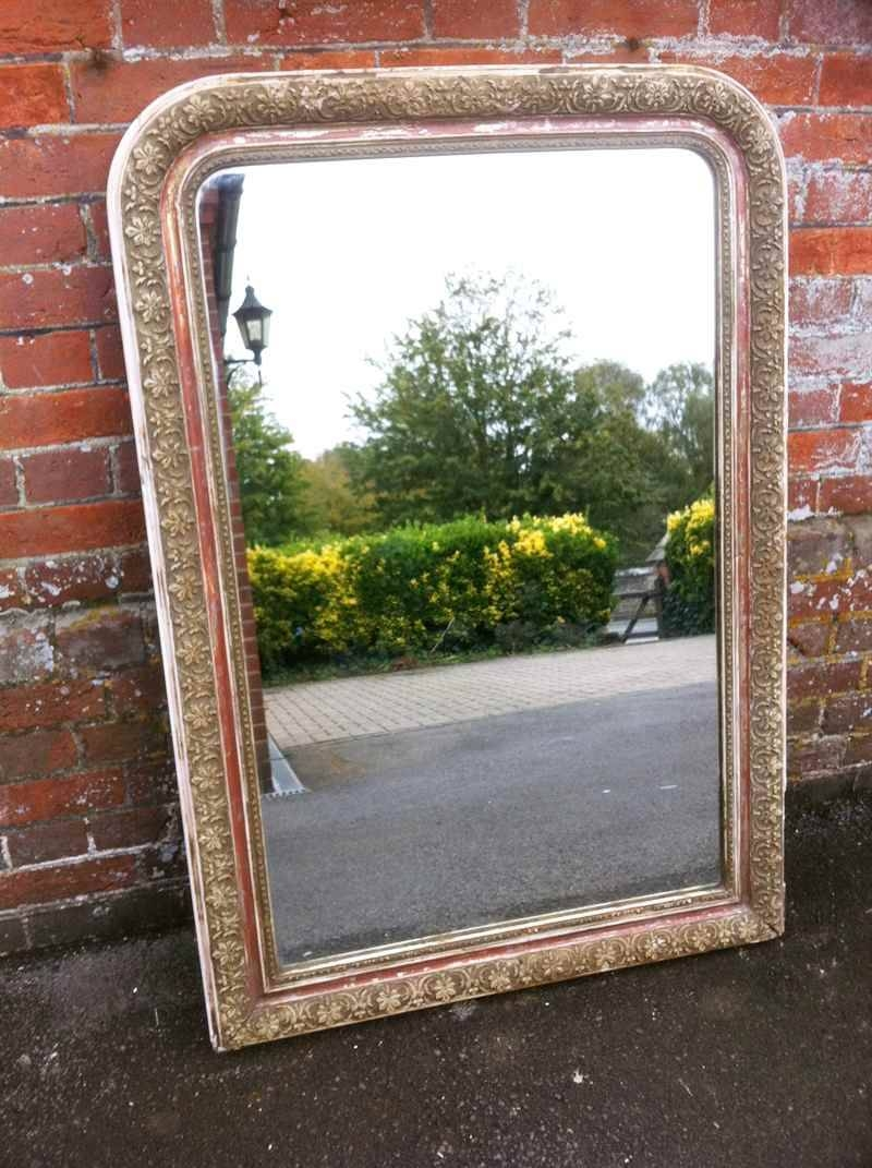 Large Antique Distressed Arched Top Mirror - Antique Antique Large with Large Antique Mirrors (Image 5 of 15)