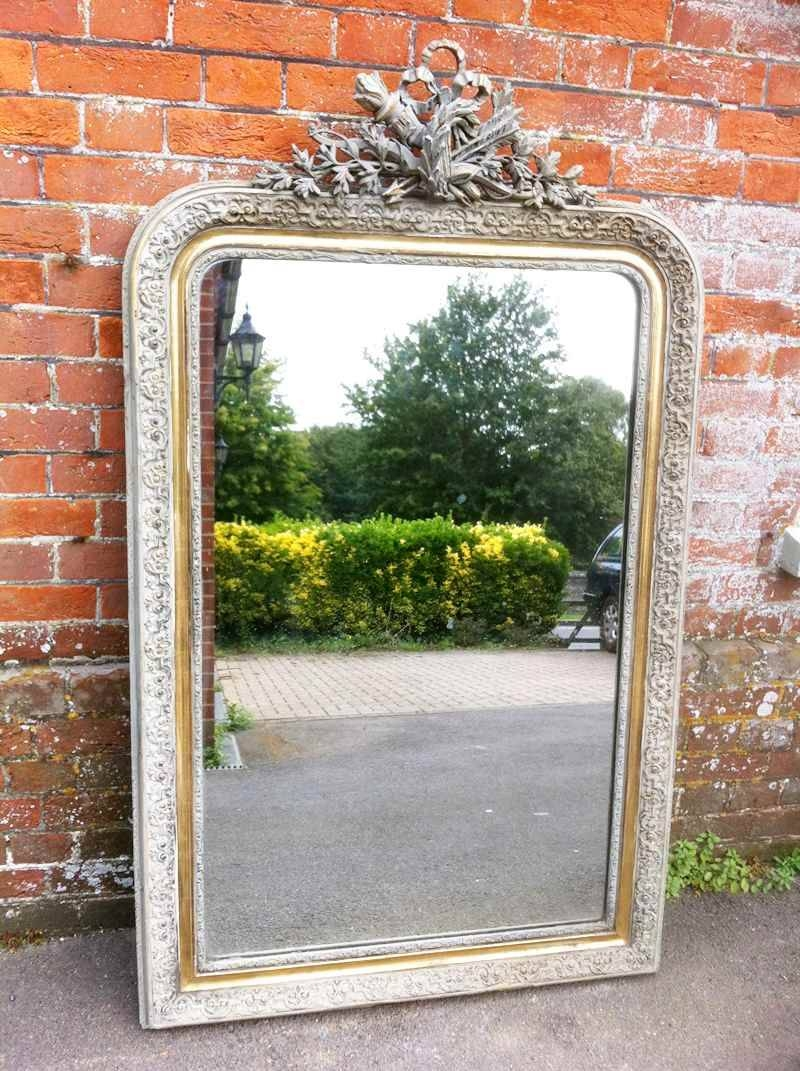 Large Antique French Carved Wood & Gesso Mirror – Antique All Our Regarding Large French Mirrors (View 10 of 15)
