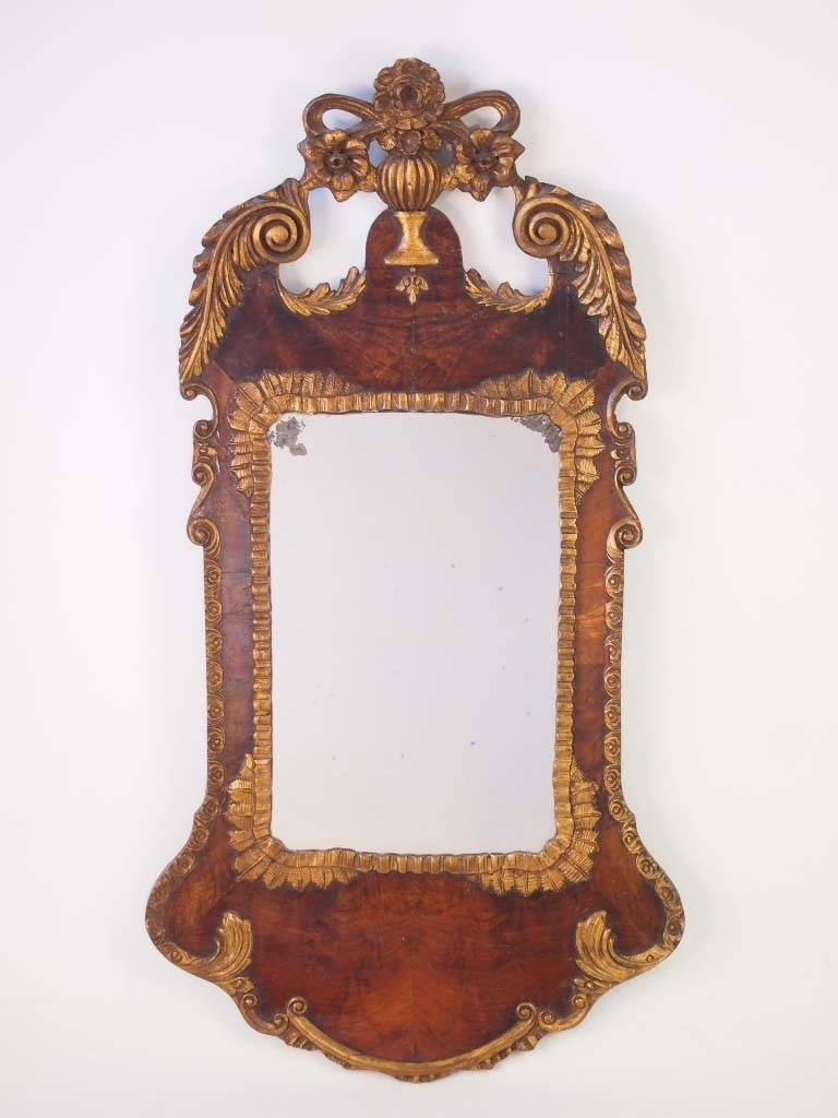 Large Antique Victorian Mirror In George Ii Style - - intended for Antique Victorian Mirrors (Image 12 of 15)