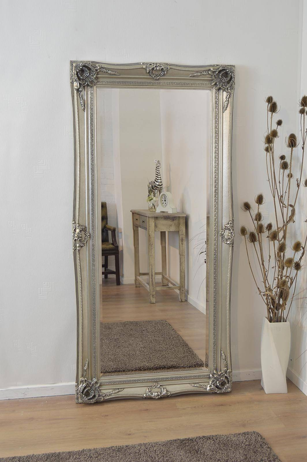 Large Antique Wall Mirror Ornate Frame Antique Ornate Wall Mirrors within Shabby Chic Wall Mirrors (Image 6 of 15)