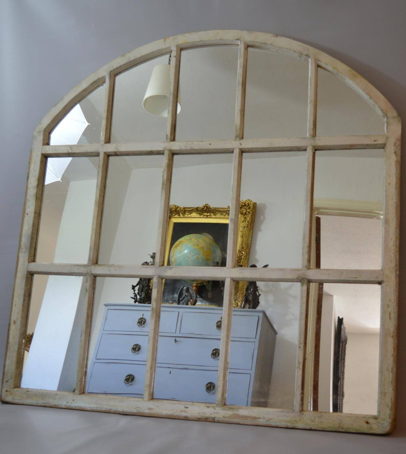 Large Arched Window Frame Mirror In Mirrors With Image 9 Of
