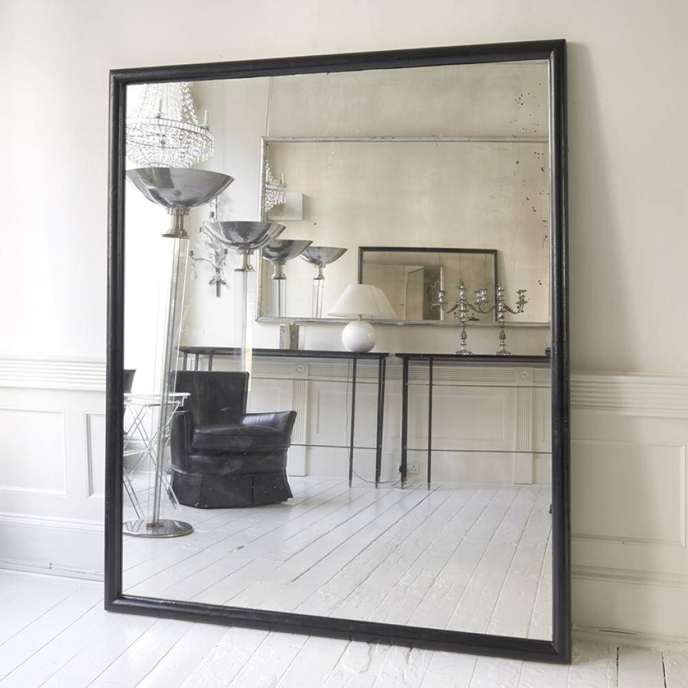 Large Black Framed Ballet School Mirror In Mirrors within Black Large Mirrors (Image 7 of 15)