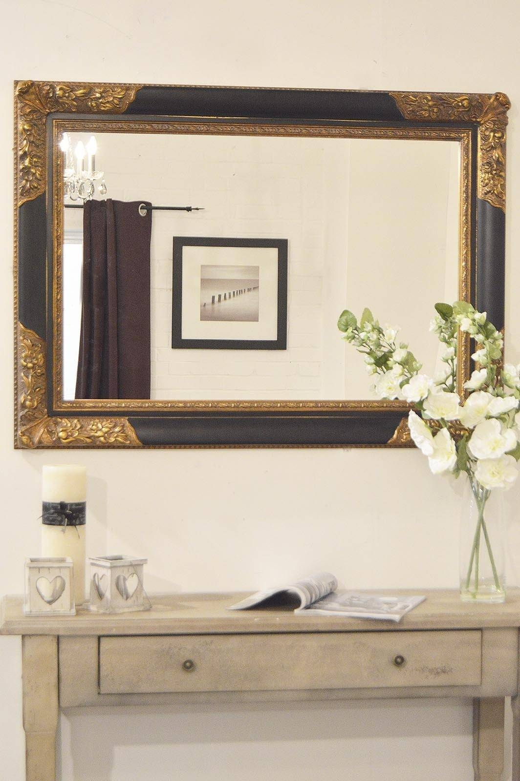 Large Black Wall Mirror 89 Awesome Exterior With Large Wall Mirror pertaining to Black Large Mirrors (Image 9 of 15)
