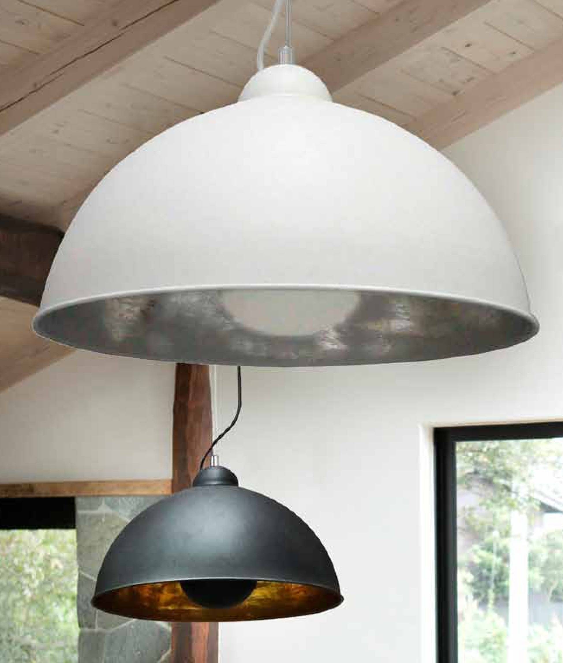Large Ceiling Pendant In Two Colours With A Wire Suspension And with regard to Large Dome Pendant Lights (Image 9 of 15)
