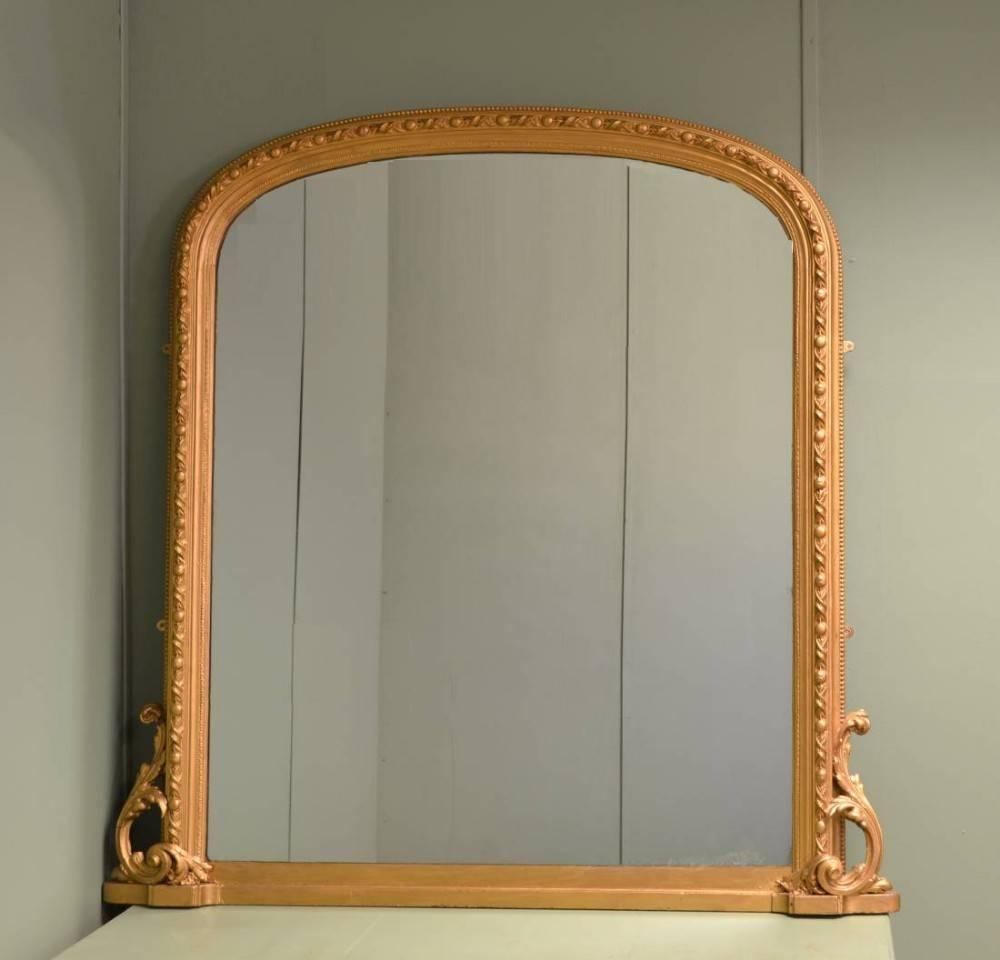Large Decorative Victorian Antique Overmantle Mirror | 284991 Throughout Antique Overmantle Mirrors (View 5 of 15)