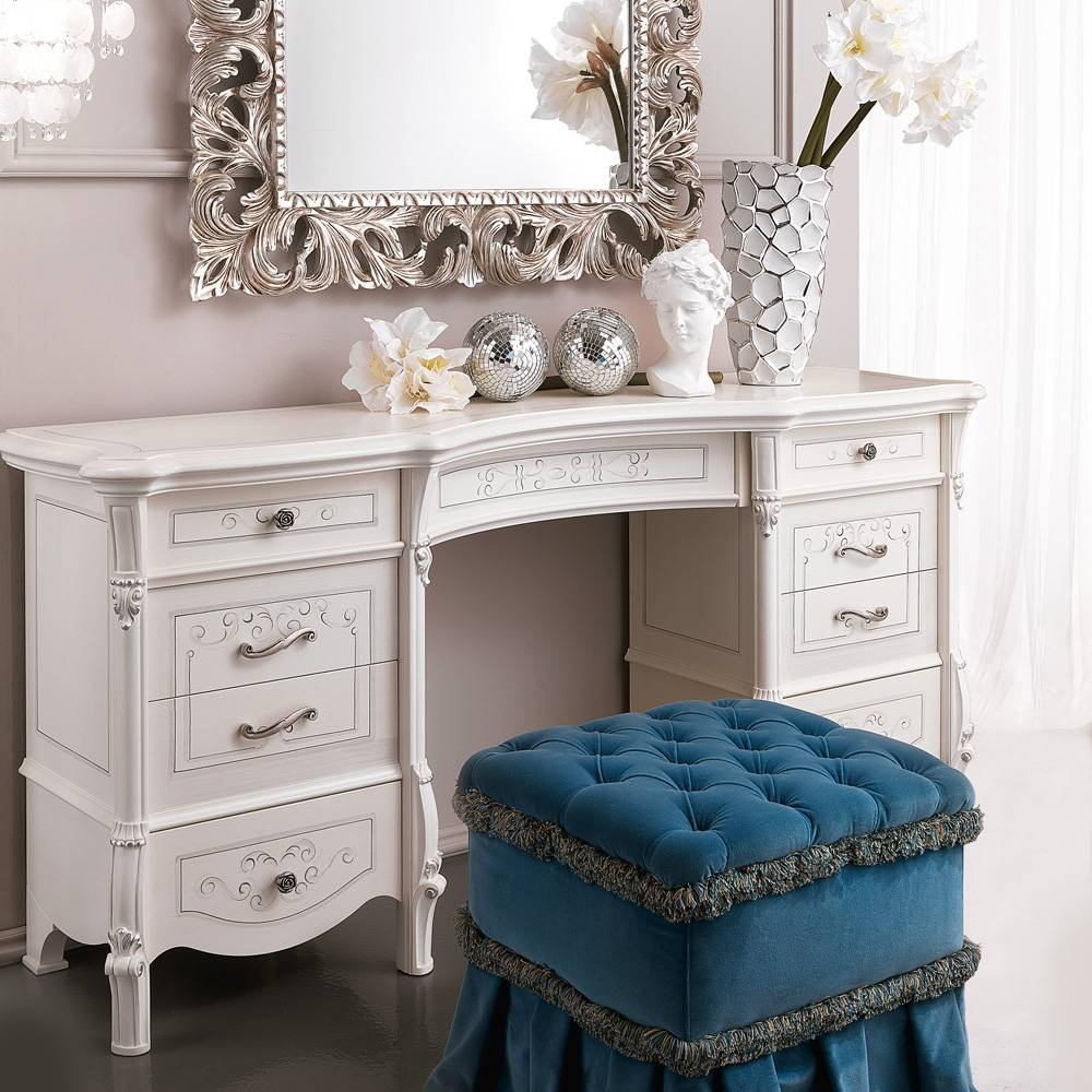 Large Designer Italian Dressing Table | Juliettes Interiors inside Ornate Dressing Table Mirrors (Image 6 of 15)