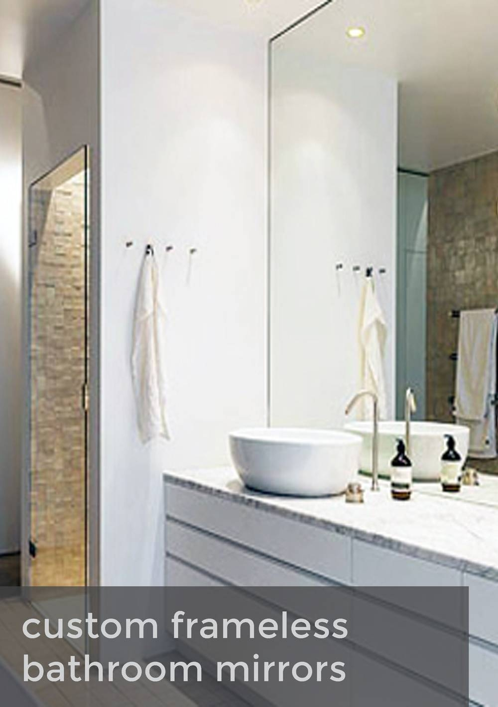 Large Frameless Bathroom Mirror Including Interior Inspirations Inside Large Frameless Bathroom Mirrors (View 10 of 15)