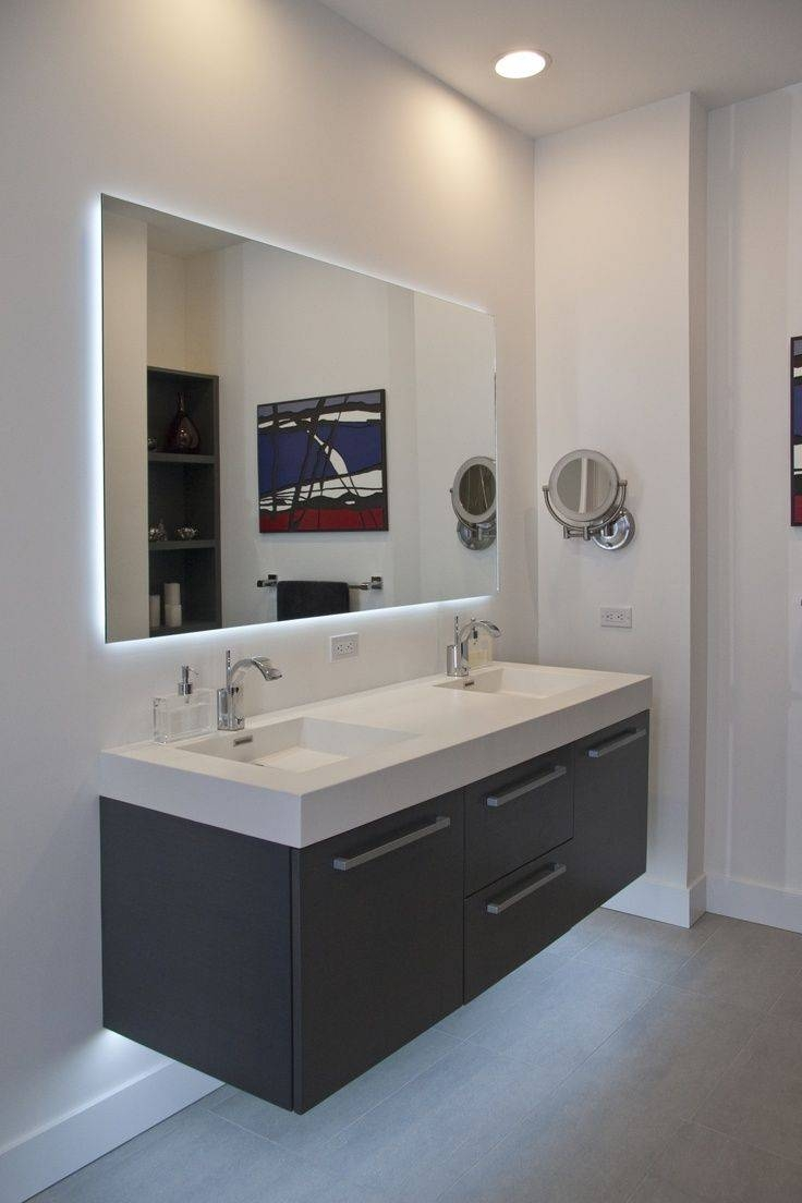 Large Frameless Bathroom Mirror Trends And Mirrors For Framed With Regard To Large Frameless Bathroom Mirrors (View 11 of 15)
