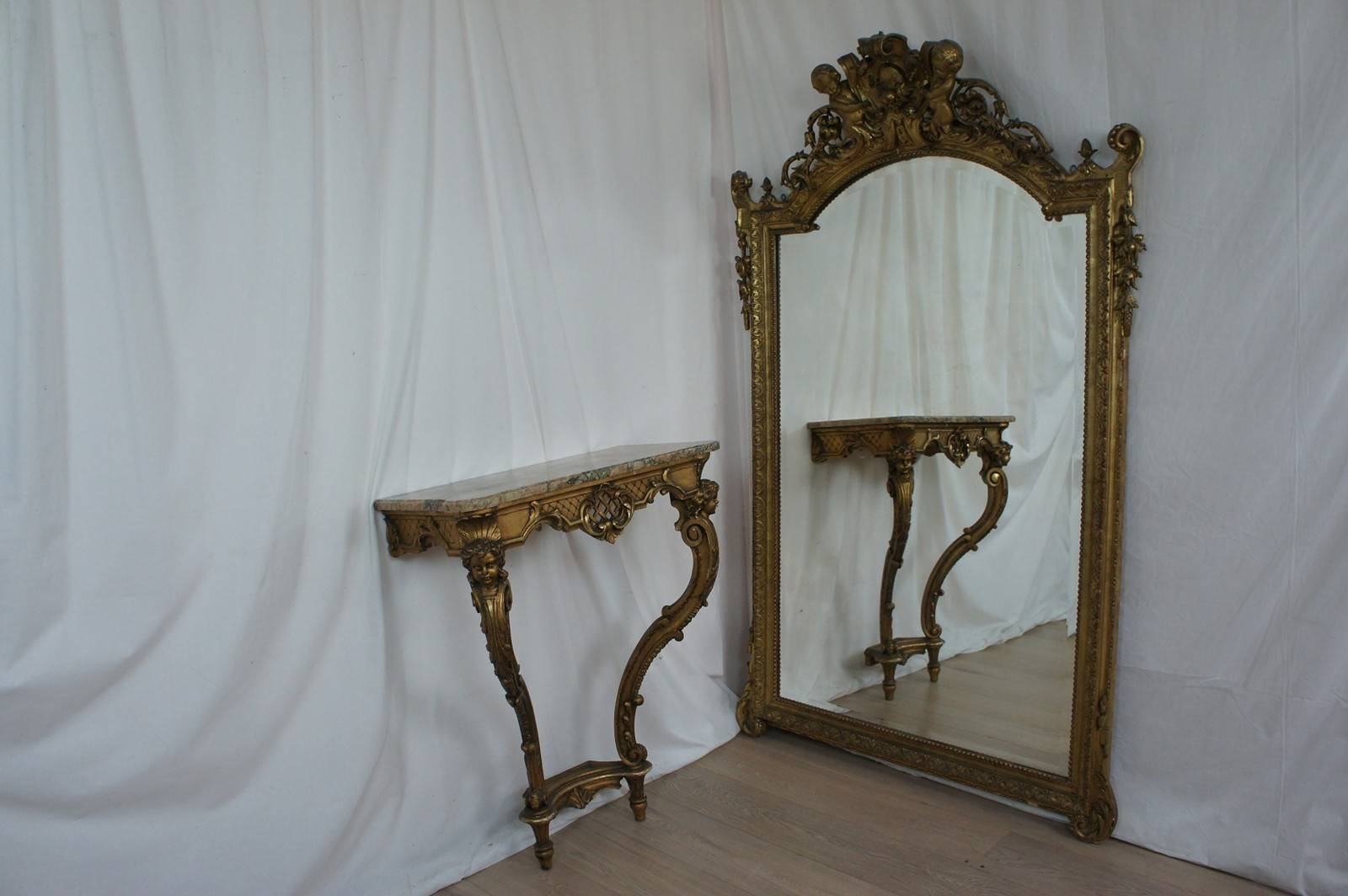 Large French Cherub Mirror - The Hoarde for French Vintage Mirrors (Image 12 of 15)