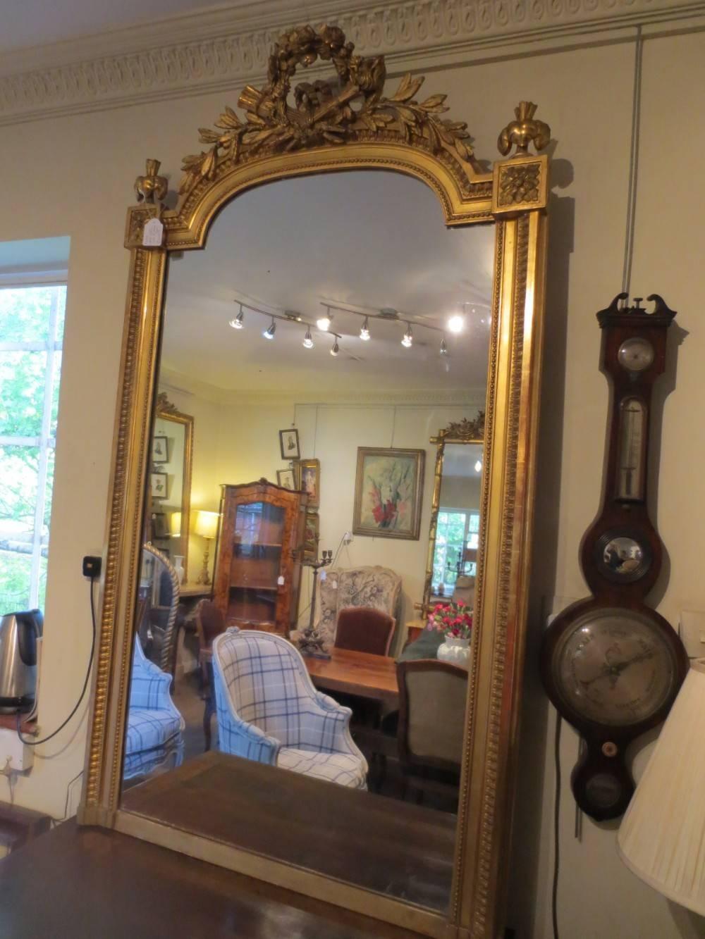 Large French Gilt Mirror | 247674 | Sellingantiques.co.uk within Large Antique Mirrors (Image 12 of 15)