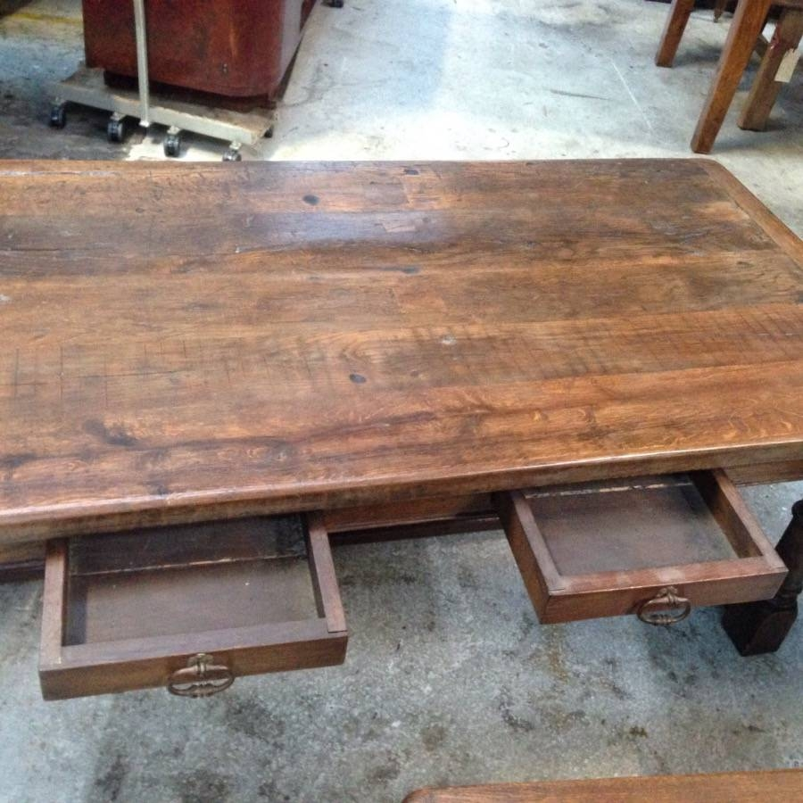 Large French Rustic Coffee Table - French Antiques Melbourne throughout Large Rustic Coffee Tables (Image 5 of 15)