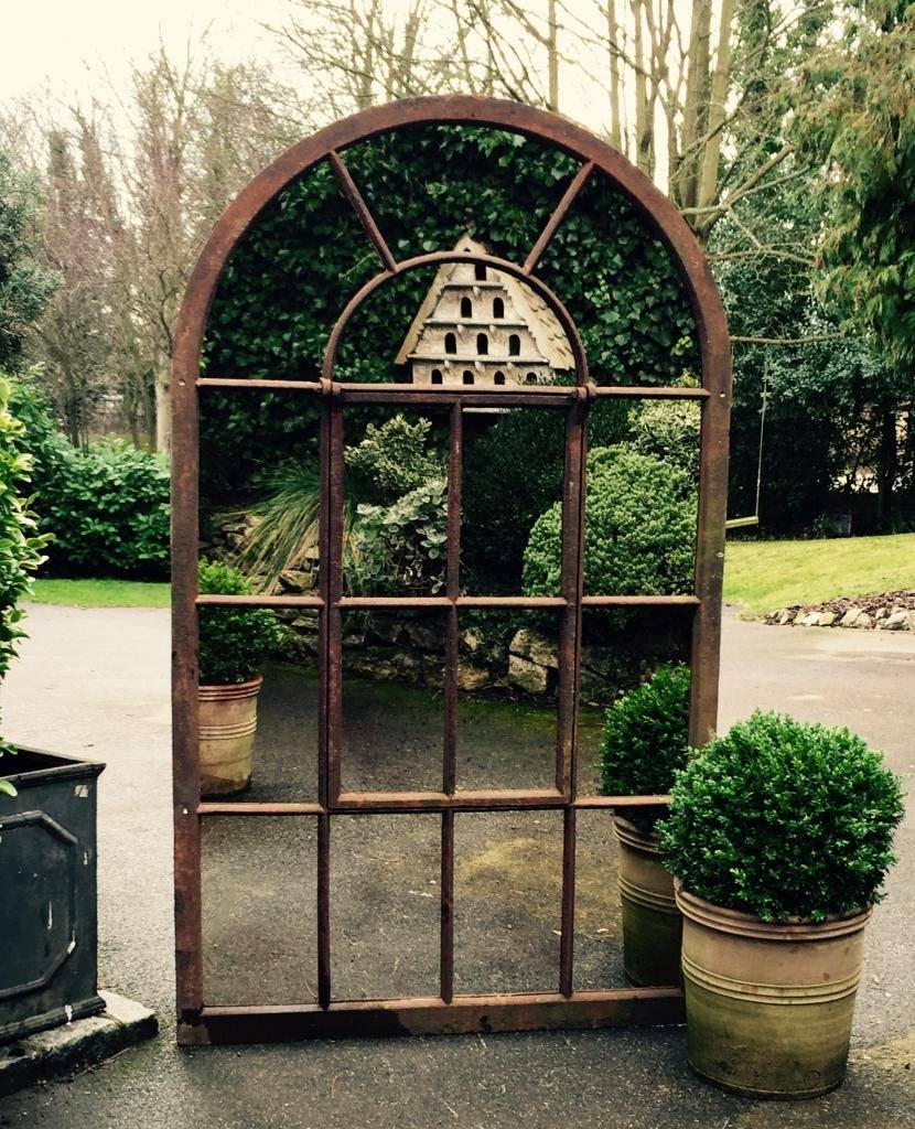 Large Full Arch Garden Mirrors Garden Mirror Rustic [Targ/16 Inside Metal Garden Mirrors (View 4 of 15)
