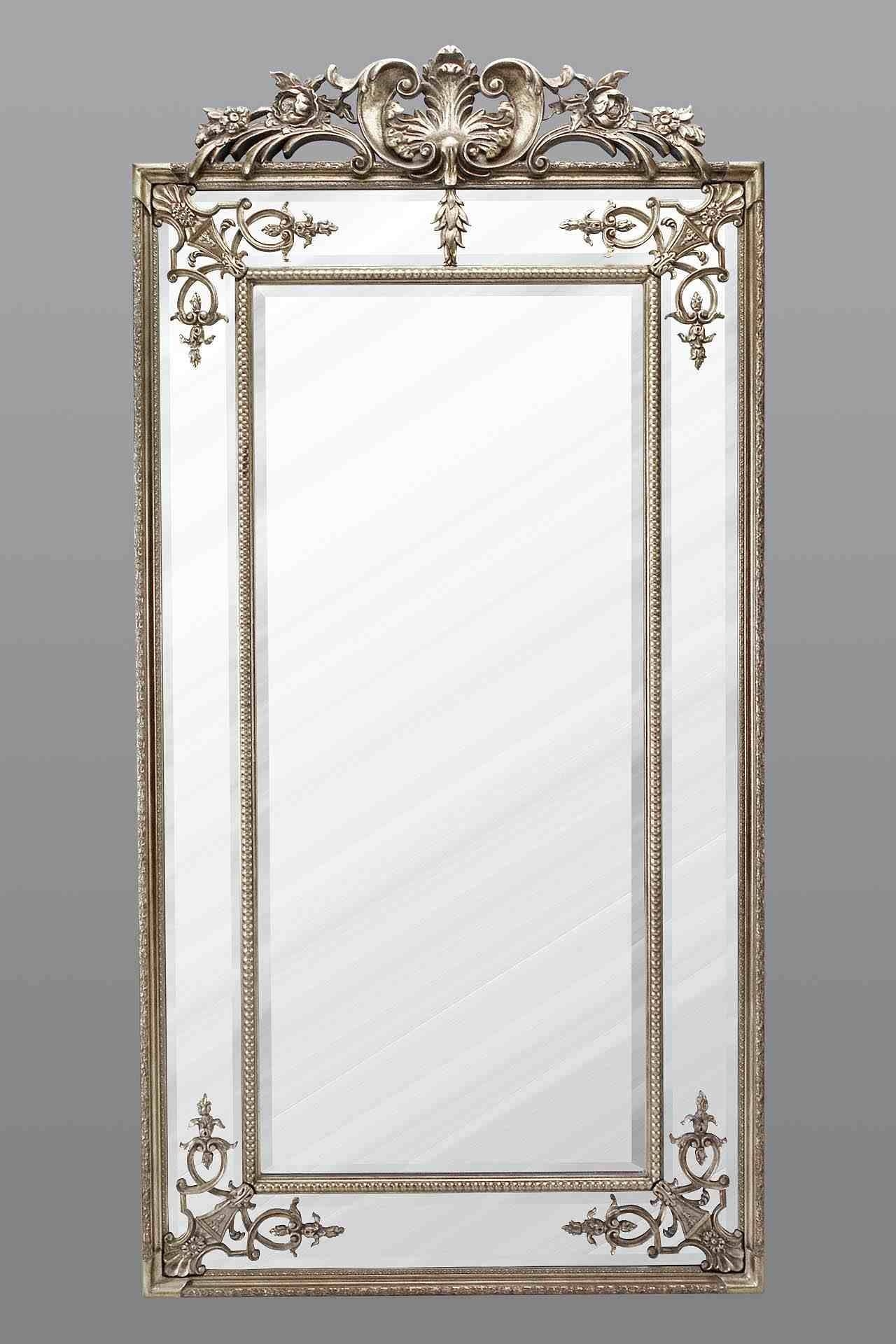 Large Full Length Mirror - Silver throughout Silver Full Length Mirrors (Image 9 of 15)
