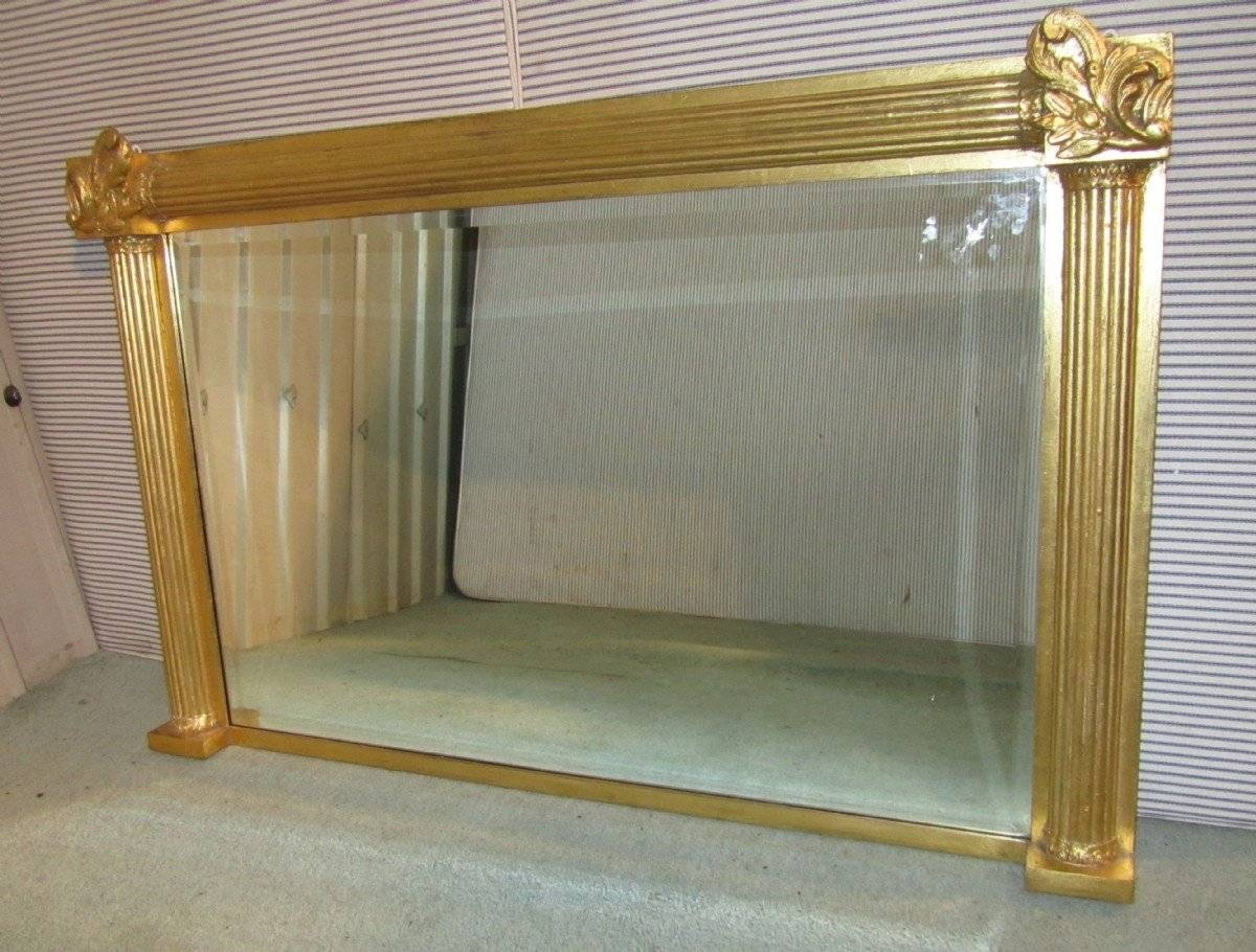 Large Gold Over Mantle Wall Mirror | 116331 | Sellingantiques.co (View 13 of 15)
