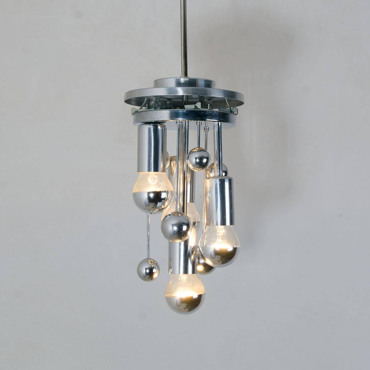 Large Handblown Bubble Glass Pendant Lights From Doria, 1970S, Set inside Bubble Glass Pendant Lights (Image 11 of 15)