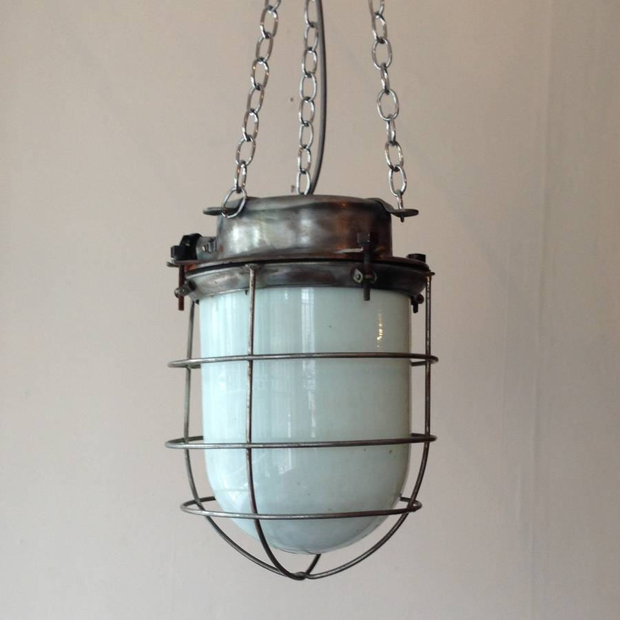 Large Industrial Pendant Lighting Cage : Kitchen Industrial with Industrial Pendant Lighting Canada (Image 10 of 15)