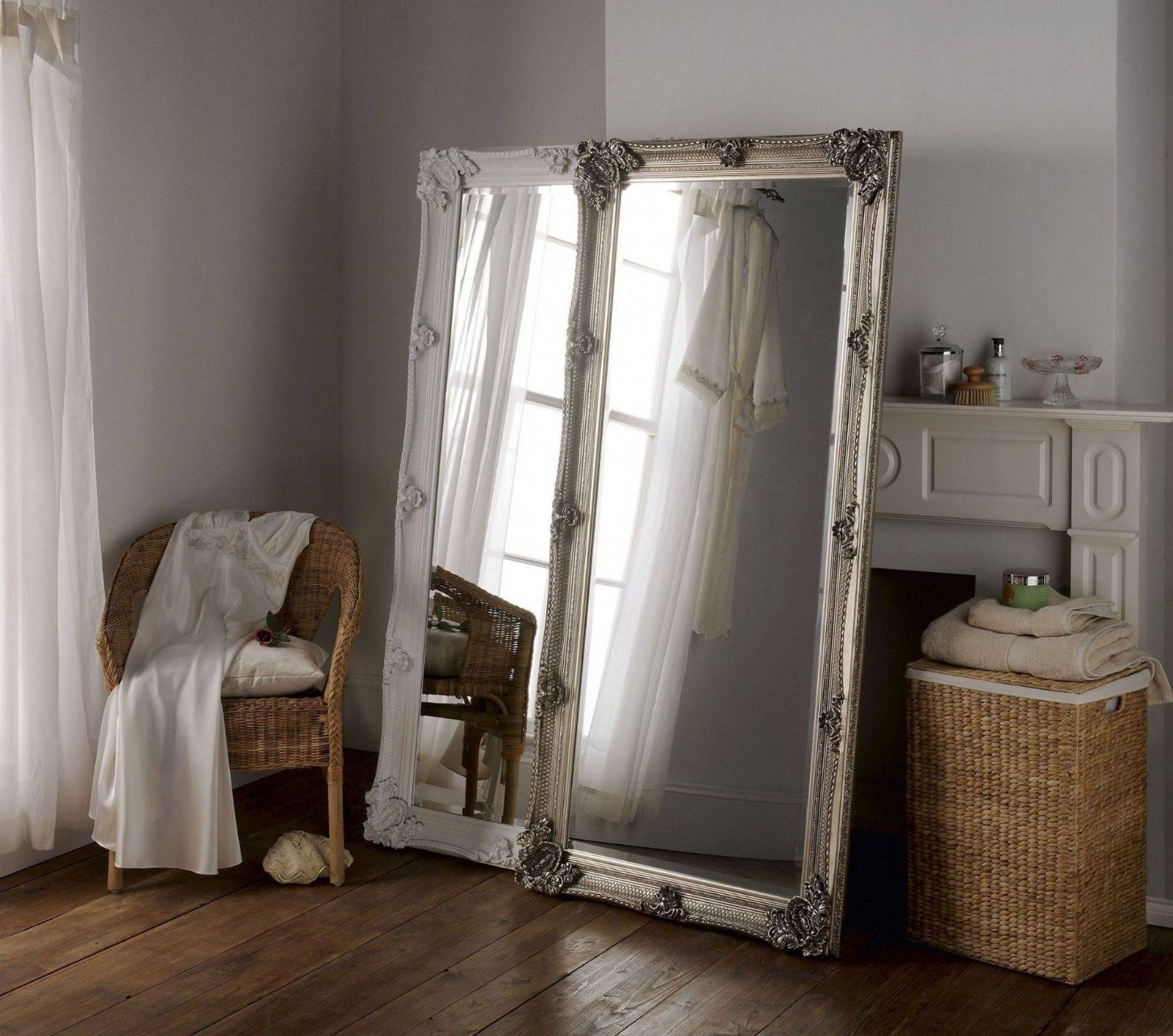 Large Leaning Wall Mirror | Vanity Decoration within Oversized Mirrors (Image 10 of 15)