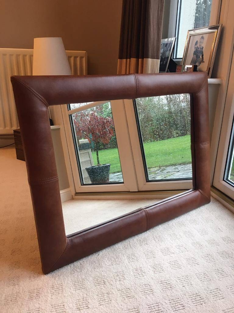 Large Leather Mirror | In Cramond, Edinburgh | Gumtree Pertaining To Large Leather Mirrors (View 9 of 15)