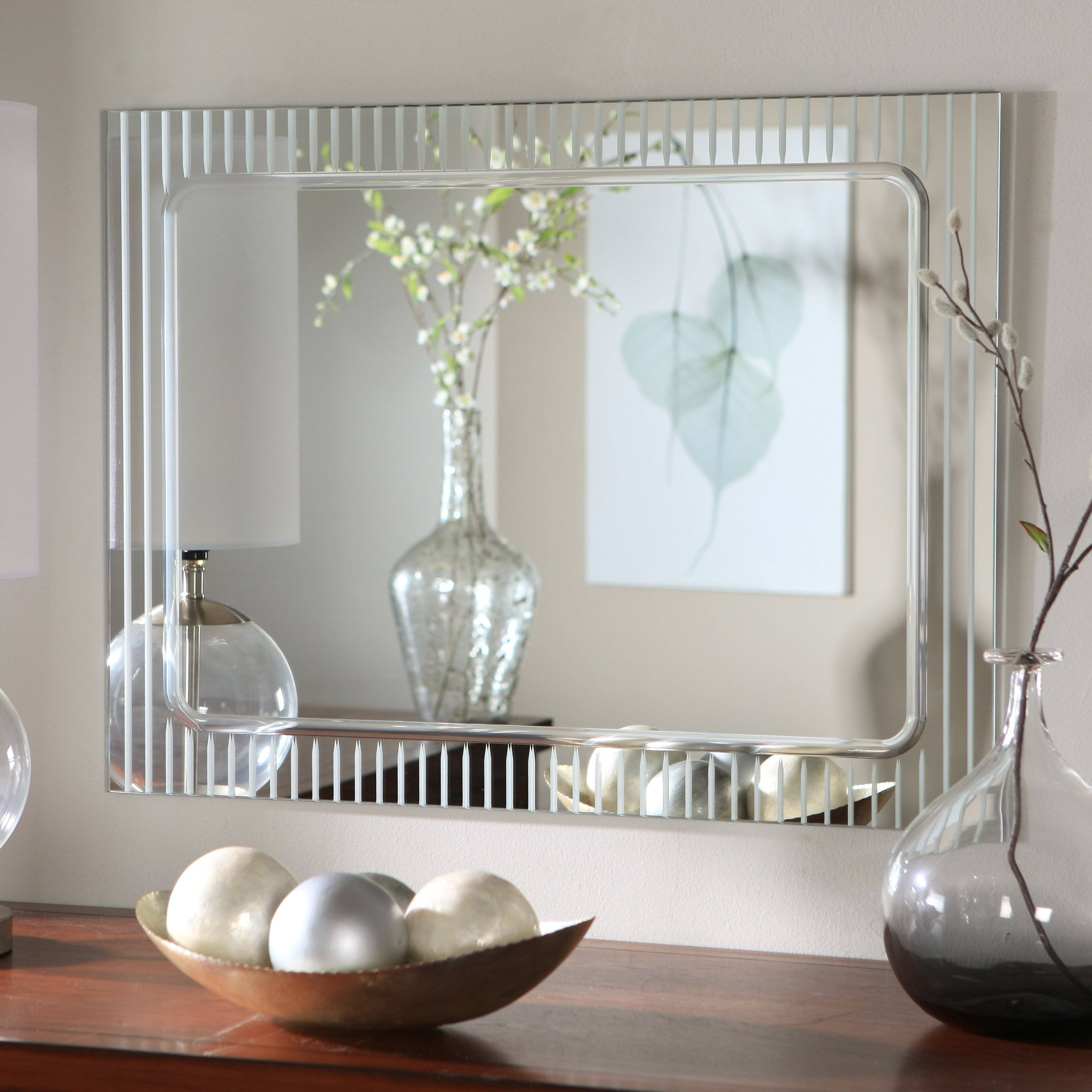 Large Mirror Wall Decor – Harpsounds.co throughout Contemporary Large Mirrors (Image 13 of 15)