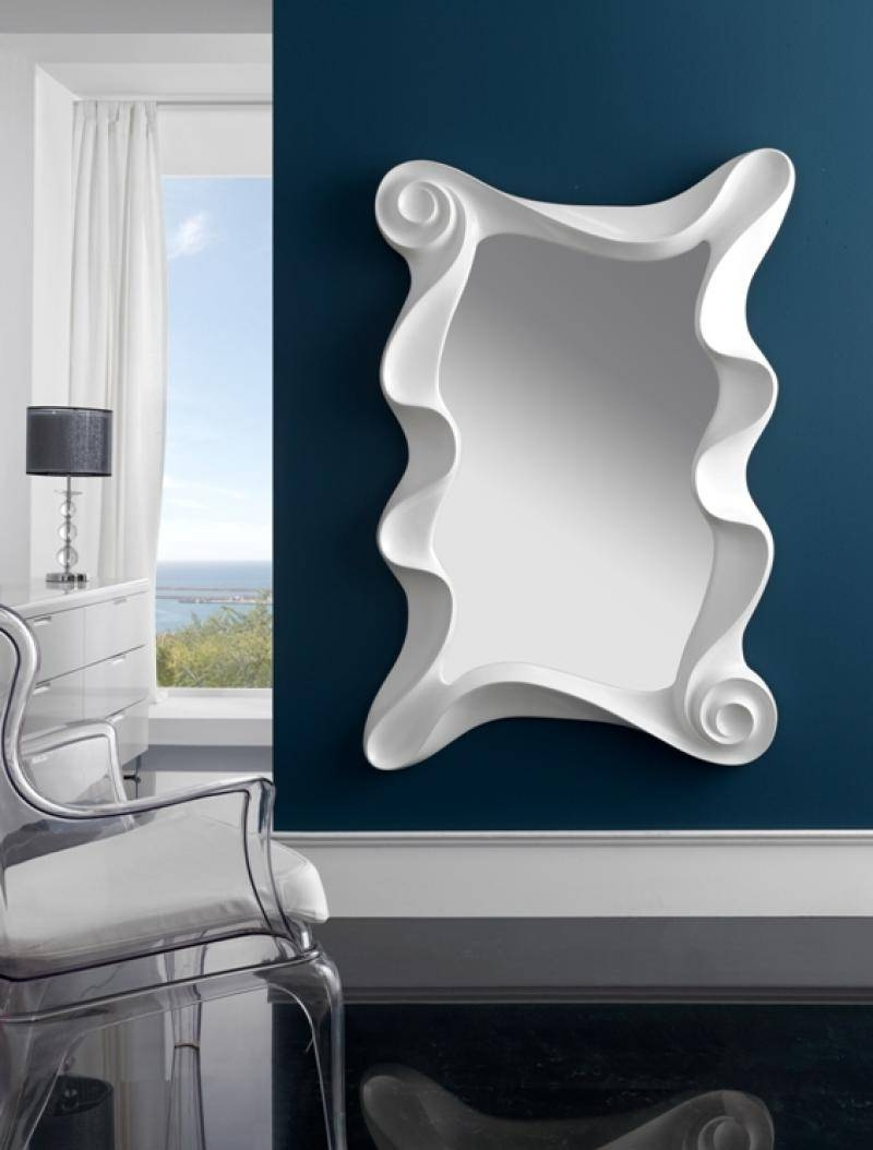 Large Modern Contemporary Mirror In Silver Finish in Large Modern Mirrors (Image 8 of 15)