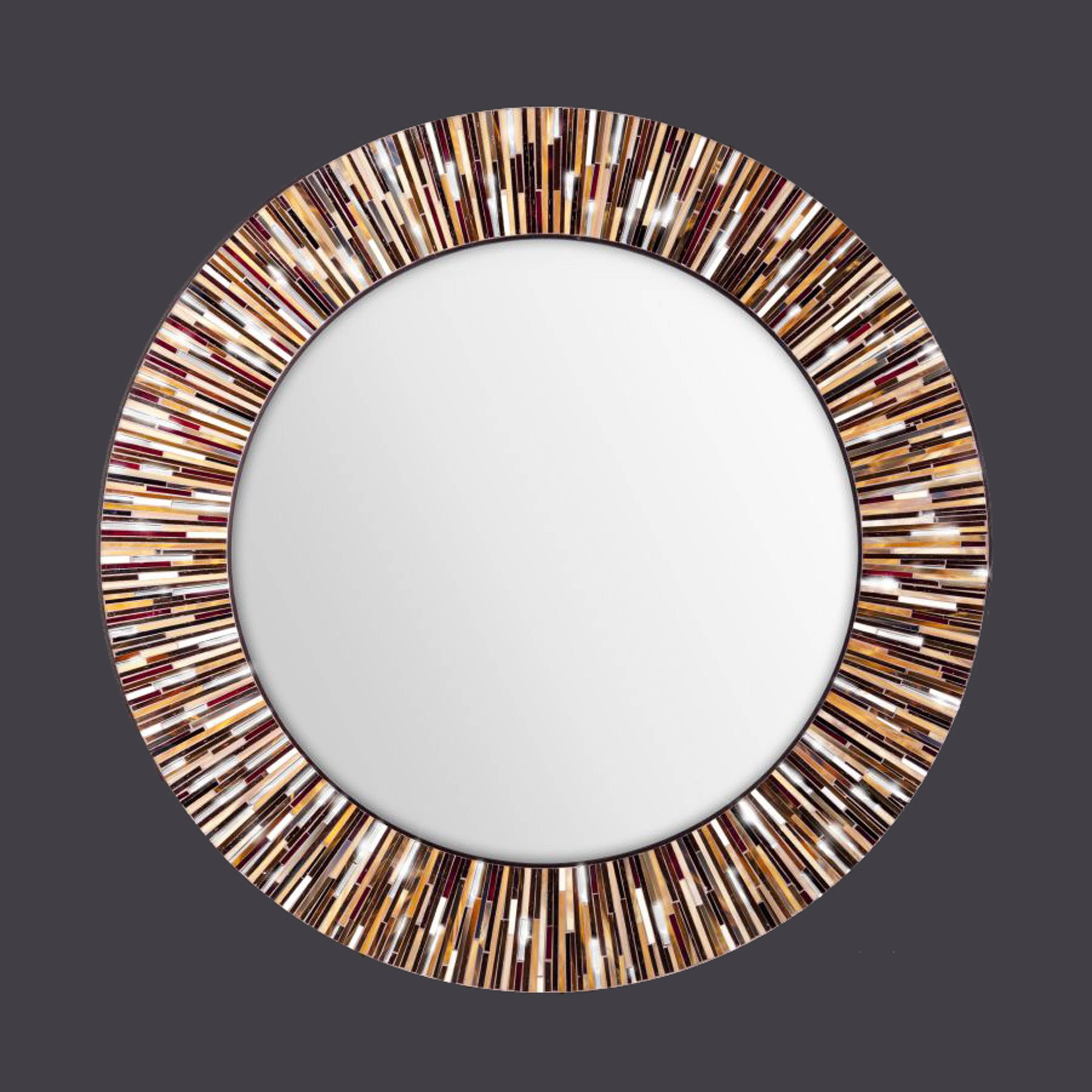 Large Mosai Glass Mirrors with Funky Wall Mirrors (Image 9 of 15)