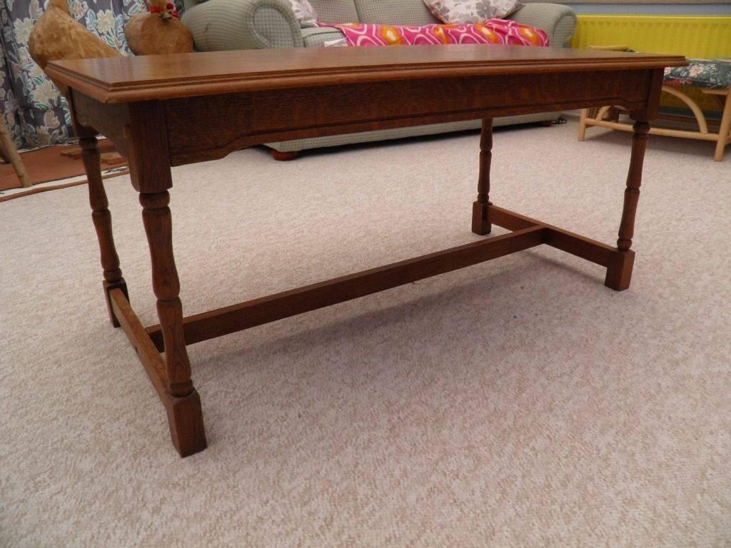 Large Oak Veneer Coffee Table | In Spencers Wood, Berkshire | Gumtree With Oak Veneer Coffee Tables (View 9 of 15)