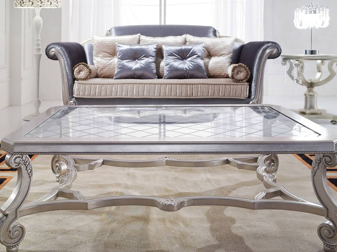 Large Old Fashioned Glass Coffee Table regarding Large Glass Coffee Tables (Image 11 of 15)