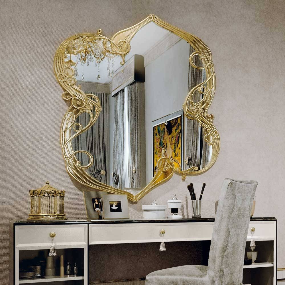 Large Ornate Gold Art Deco Wall Mirror | Juliettes Interiors with regard to Art Deco Large Mirrors (Image 14 of 15)