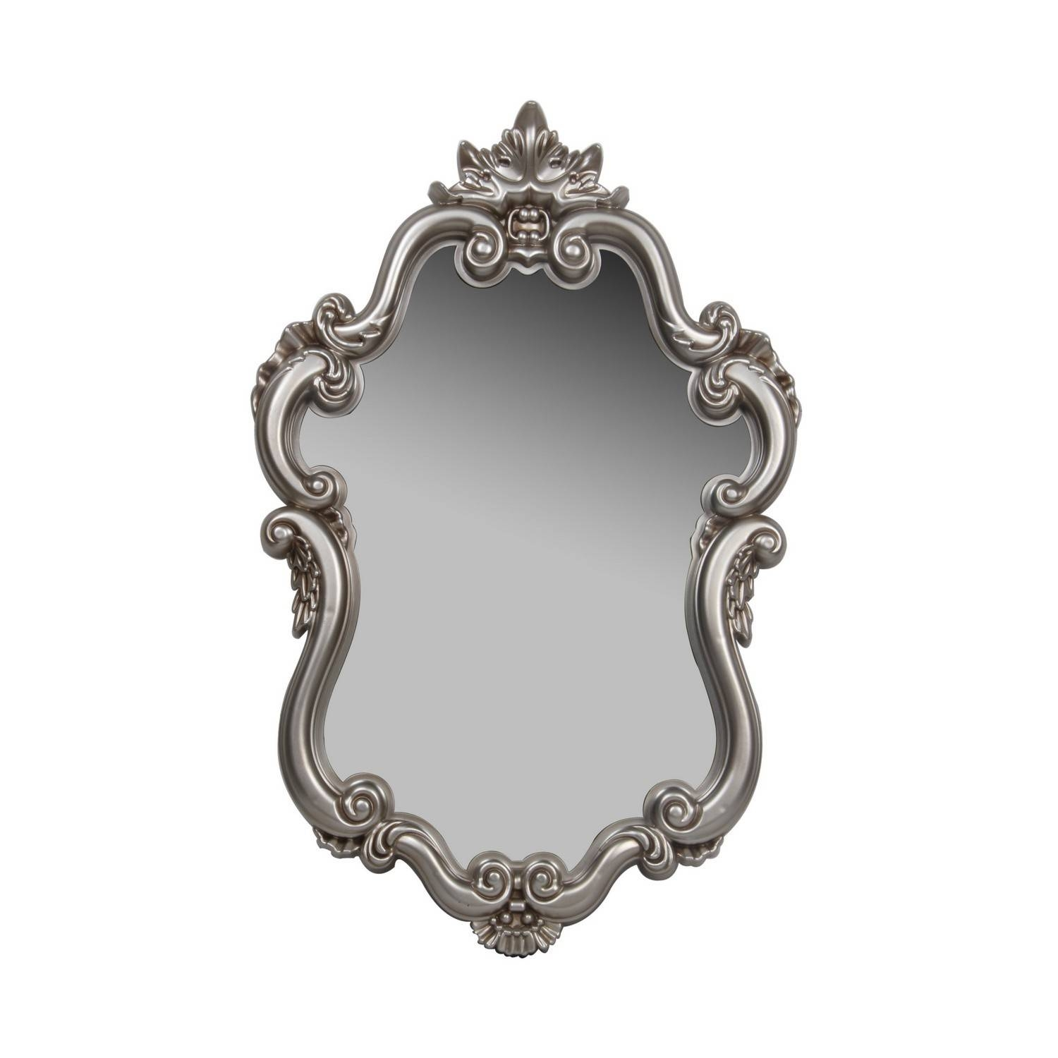 Large Oval Baroque Mirror Wall Acedf – Surripui Inside Silver Baroque Mirrors (View 8 of 15)
