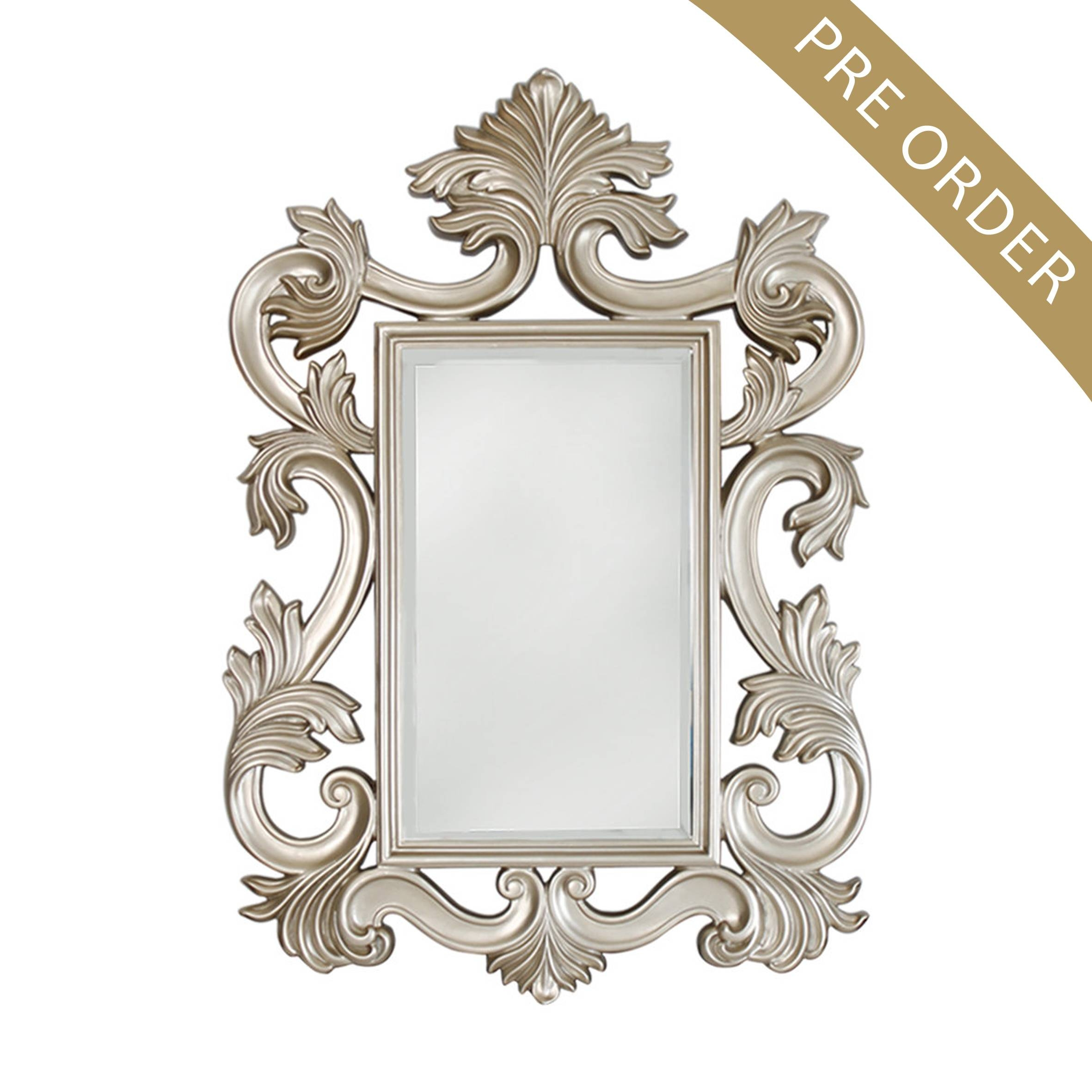 Large Oval Baroque Mirror Wall Acedf - Surripui throughout Baroque Wall Mirrors (Image 9 of 15)