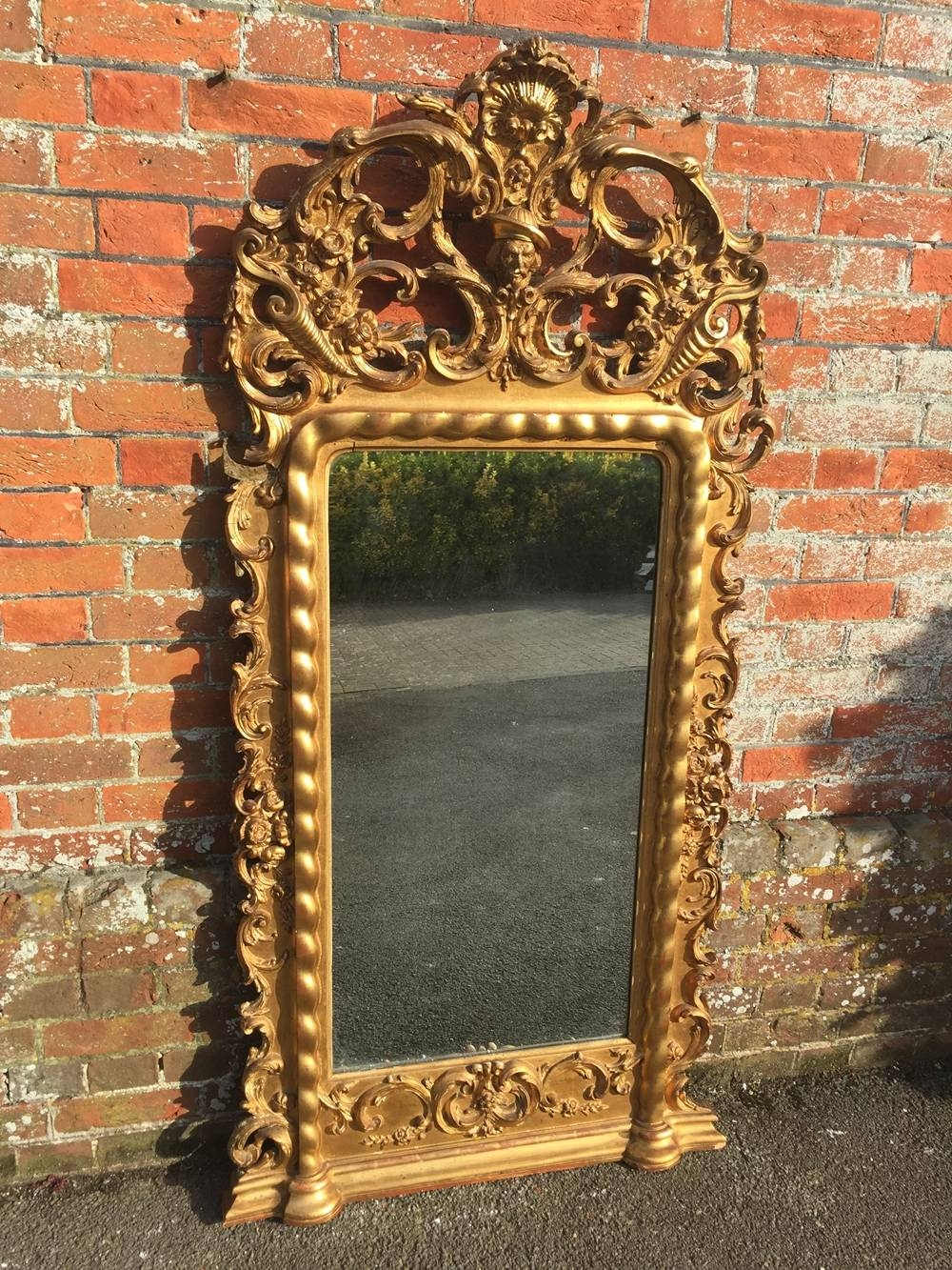 Large Overmantle Mirrors Uk – Antique Overmantle Mirrors For Sale For Large French Mirrors (View 12 of 15)