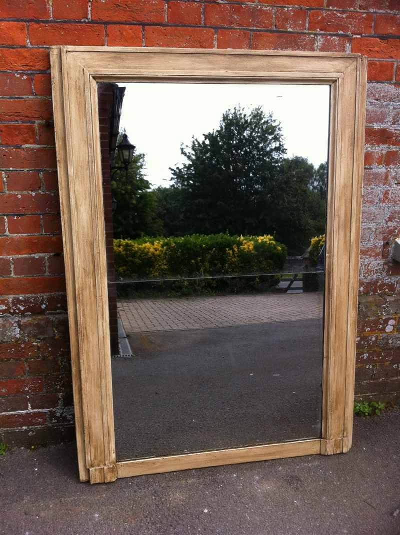 Large Painted Early Antique French Mirror - Antique All Our with regard to Large Antique Mirrors (Image 13 of 15)