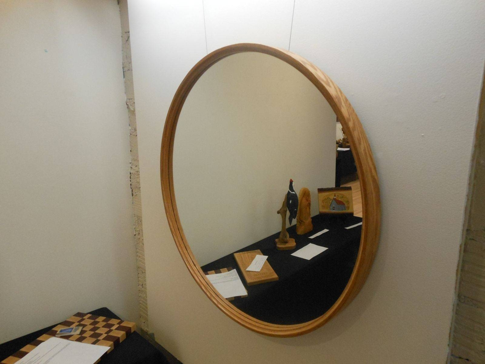 Large Round Mirror With Wood Frame – Round Designs In Large Round Wooden Mirrors (View 9 of 15)