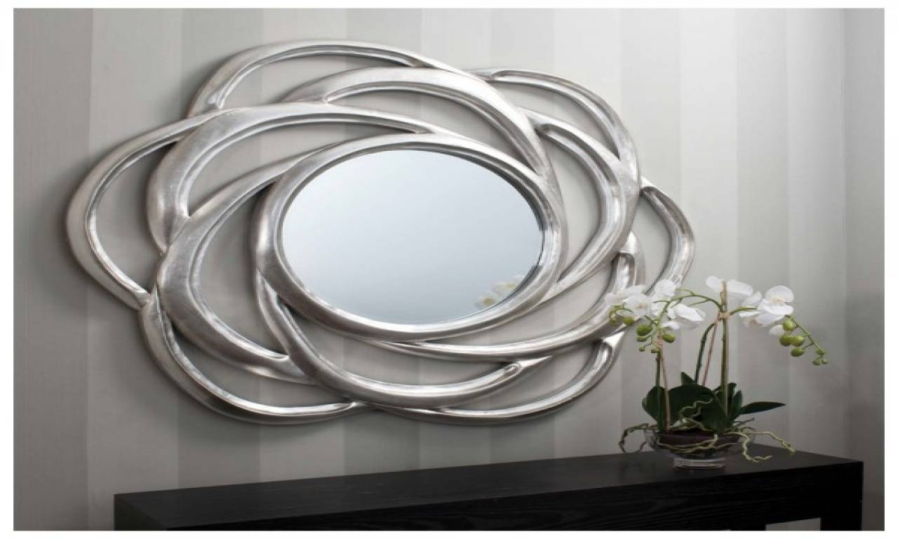 Large Round Wall Mirrors 82 Unique Decoration And Mirror with regard to Large Round Silver Mirrors (Image 10 of 15)
