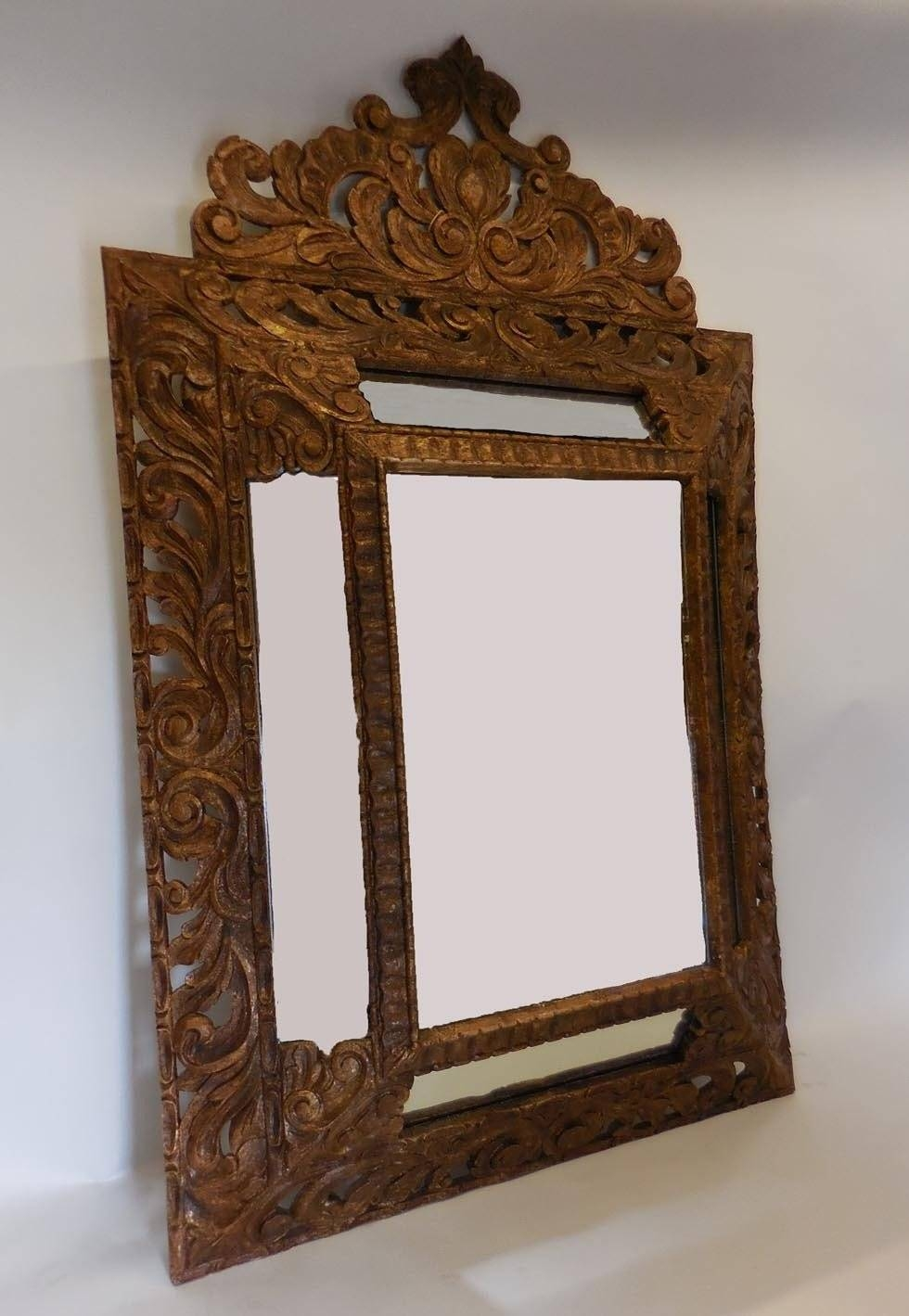 Large-Scale Hand-Carved Mirror At 1Stdibs throughout Large Mantel Mirrors (Image 13 of 15)