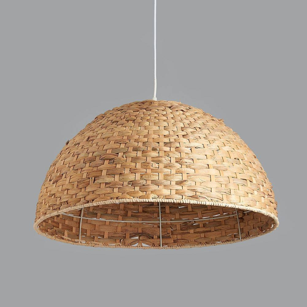 Large Seagrass Dome Pendant Light with Large Dome Pendant Lights (Image 10 of 15)