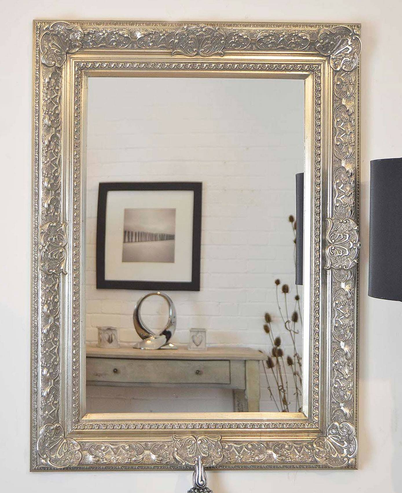 Large Silver Wall Mirror 76 Inspiring Style For Mirrors Pleasing pertaining to Large Silver Vintage Mirrors (Image 8 of 15)