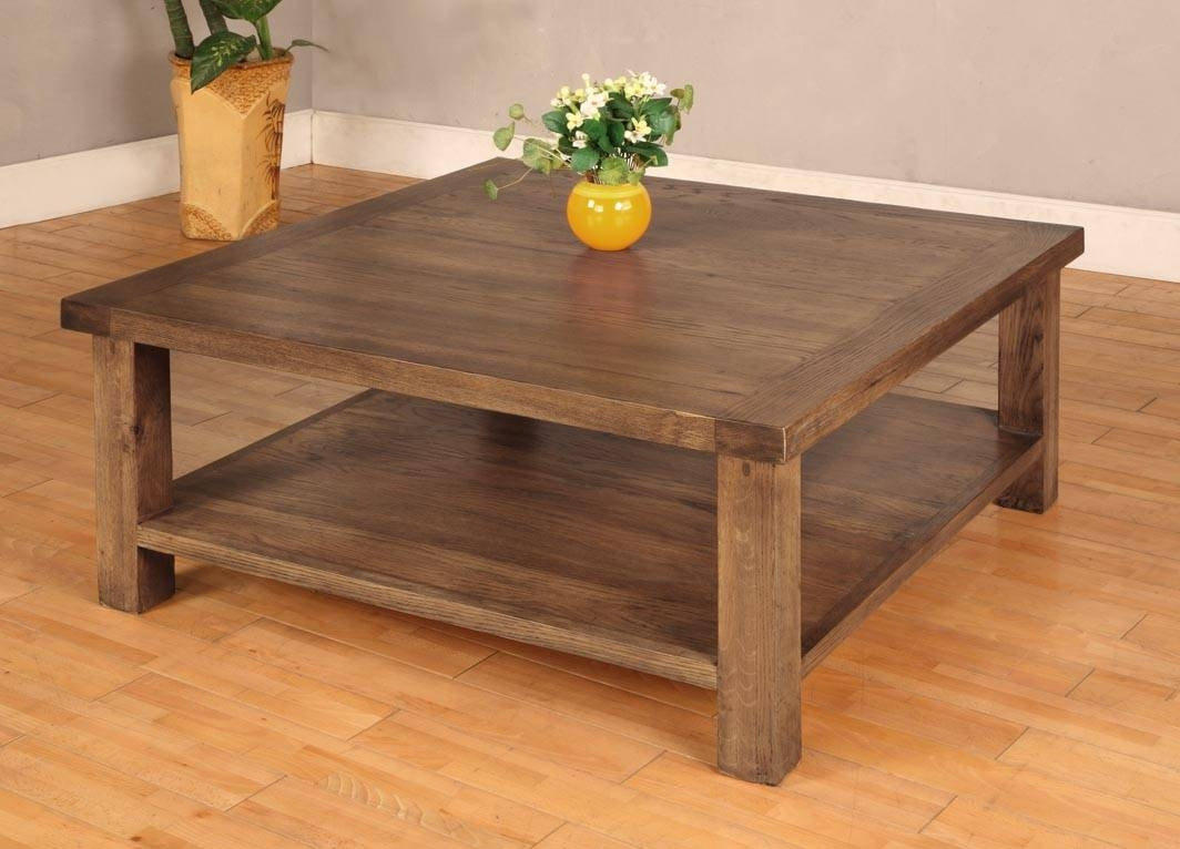 Large Square Coffee Tables Wood - Large Square Coffee Table For intended for Large Solid Wood Coffee Tables (Image 8 of 15)