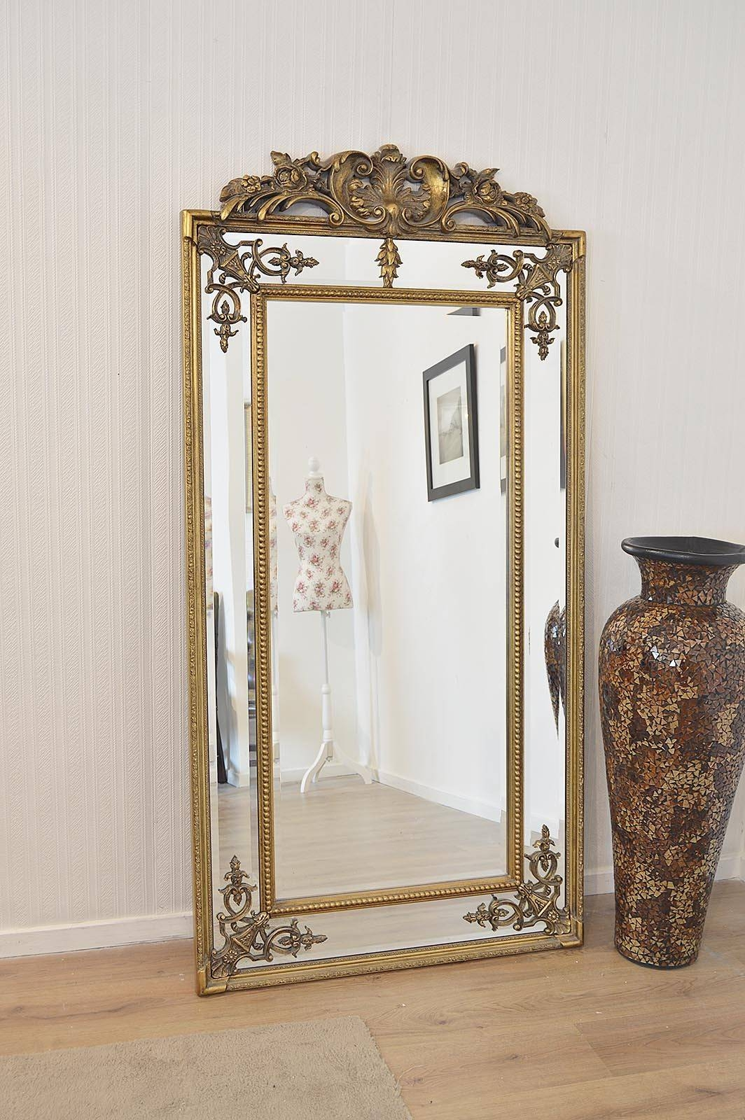 Large Standing Mirrors, Ornate Gold Picture Frames Large Gold within Gold Standing Mirrors (Image 13 of 15)