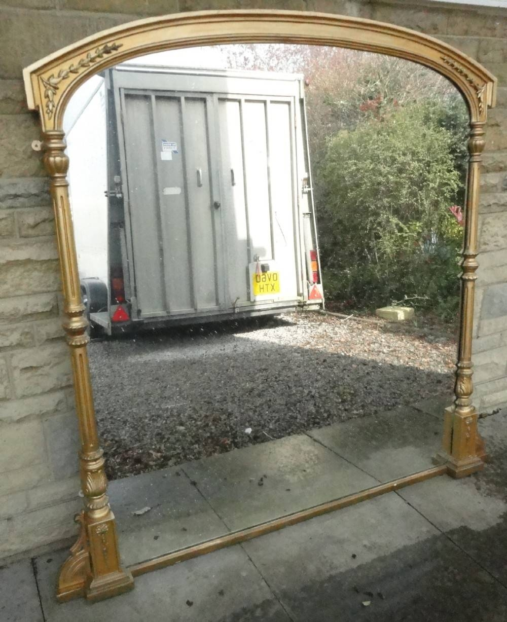 Large Victorian Gilt Overmantle Mirror | 271899 | Sellingantiques within Large Overmantle Mirrors (Image 13 of 15)